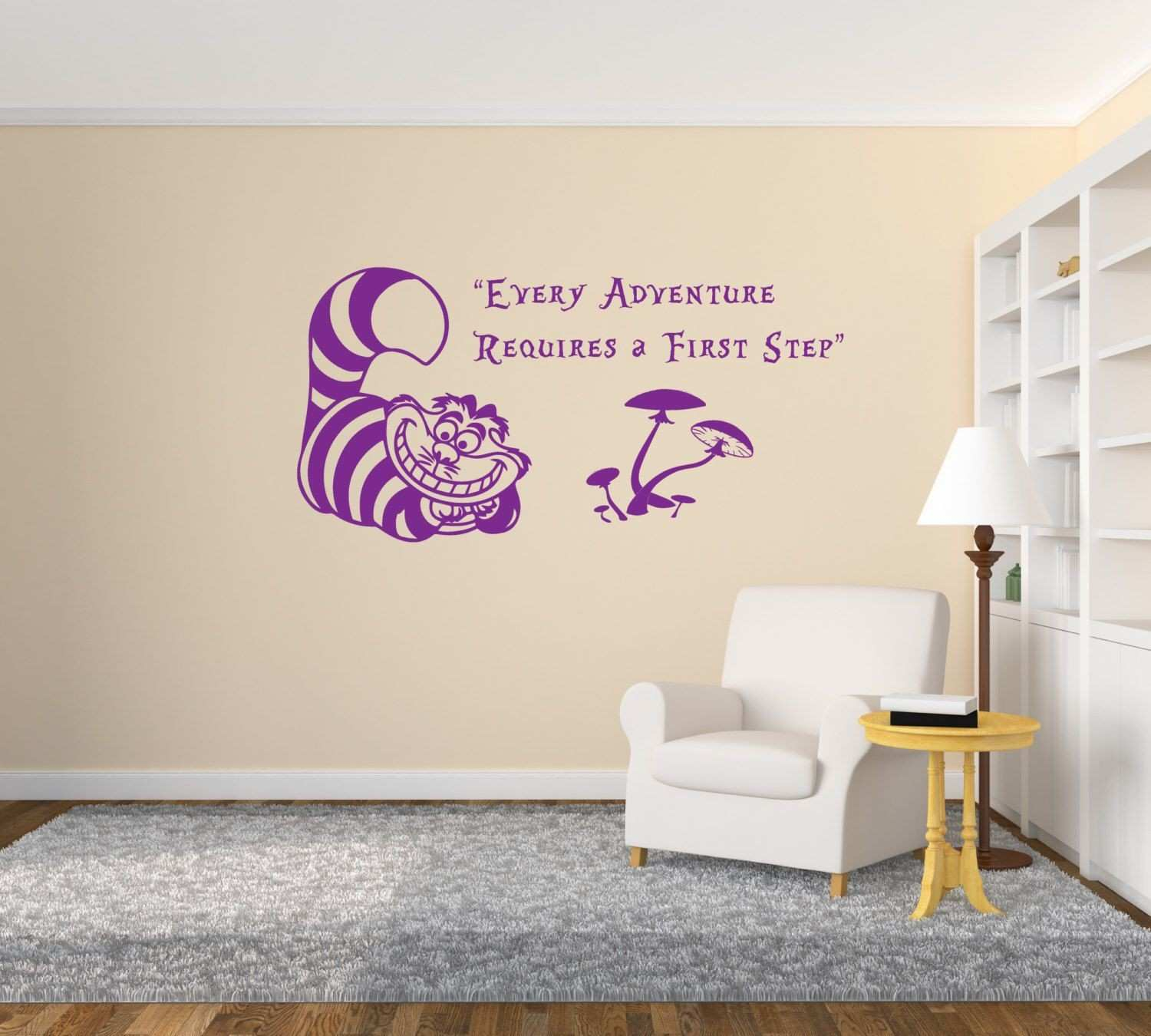 """Cheshire Cat Alice in Wonderland Quote """"Every Adventure Requires a"""
