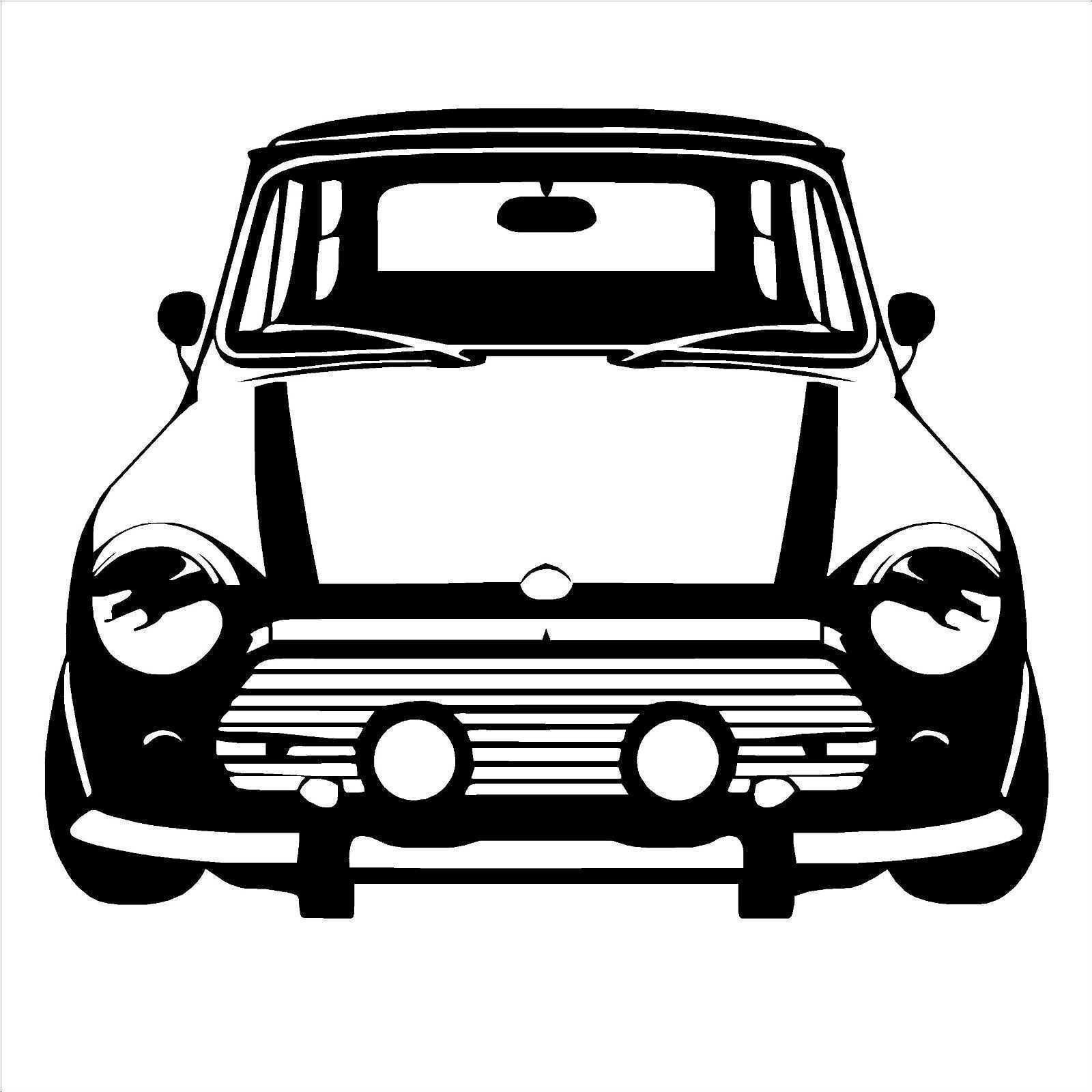 D183 CLASSIC MINI COOPER Vinyl Wall Art car sticker room decal Car