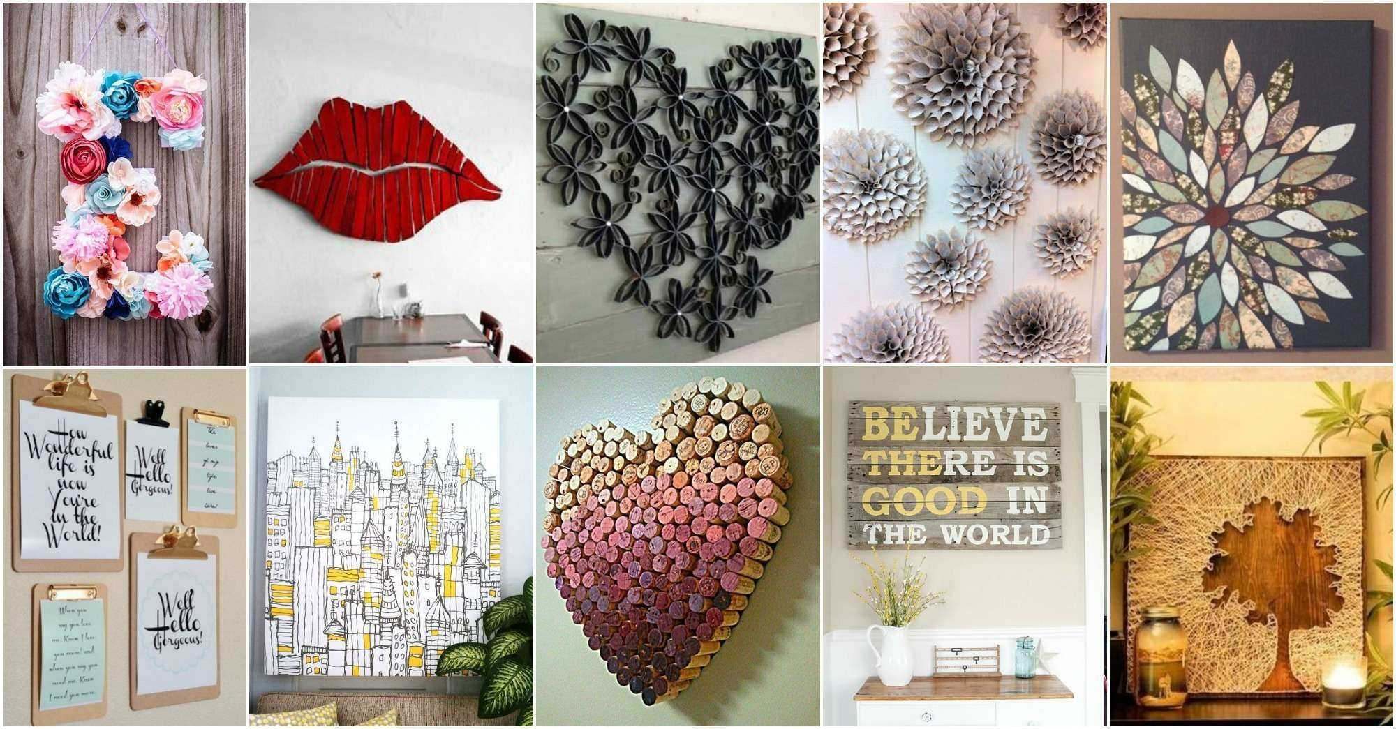 Fun Wall Art Diy attractive Ideas Wall Art Decor Charming About Diy