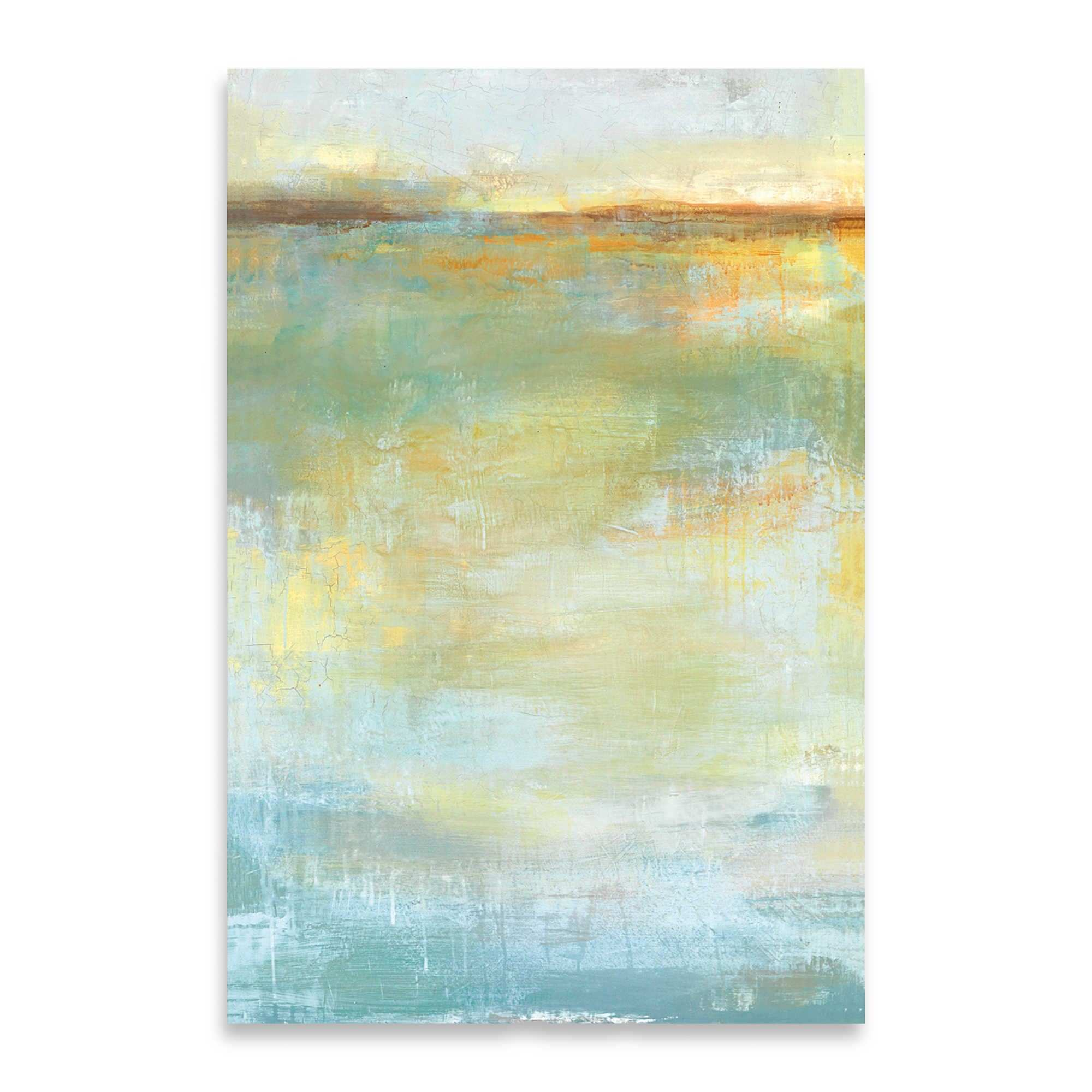 Abstract Wash Center 24 Inch x 36 Inch Embellished Canvas Wall Art