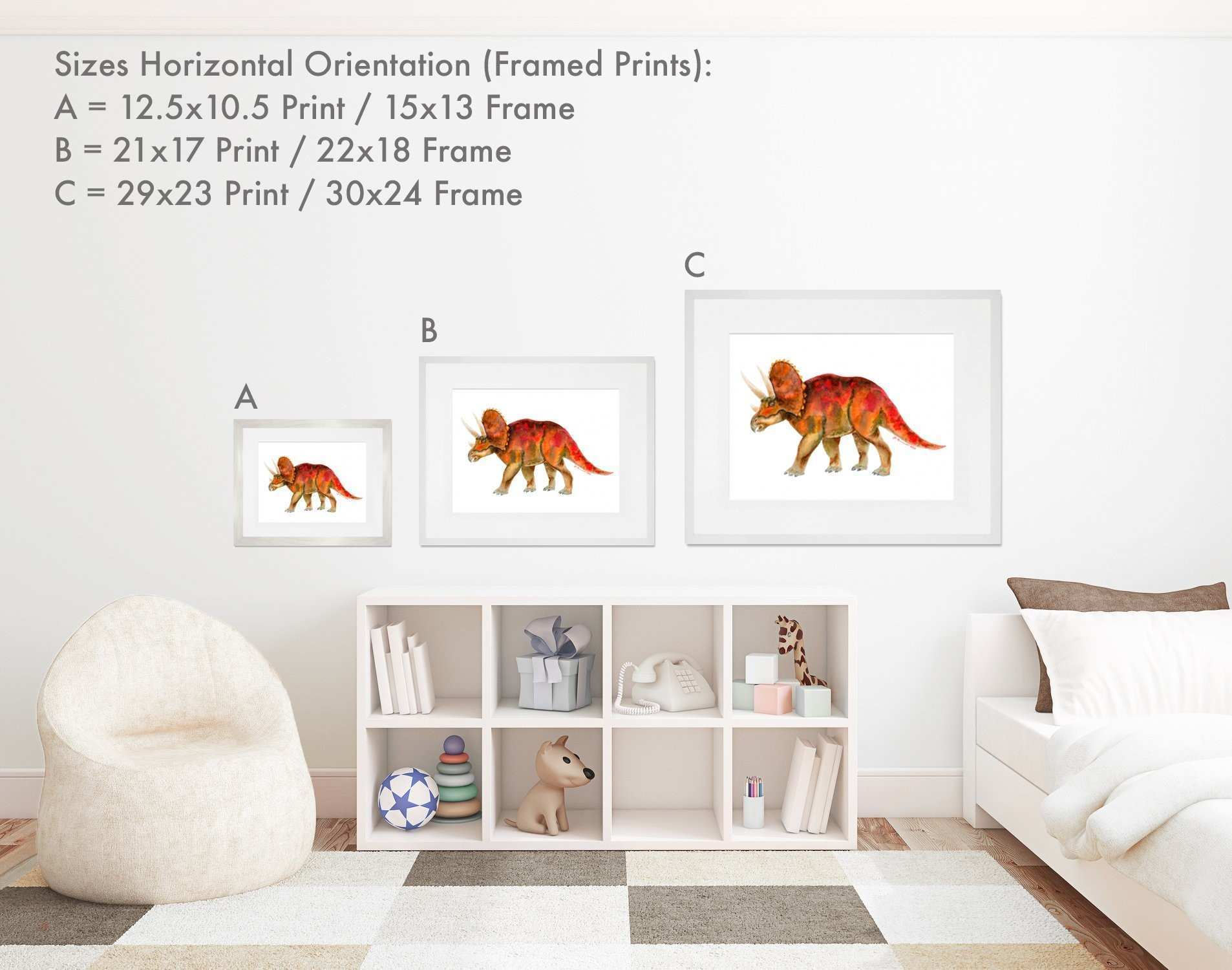 Wall Art Framed Sets Beautiful Framed Dinosaur Art 4 Prints Black or ...