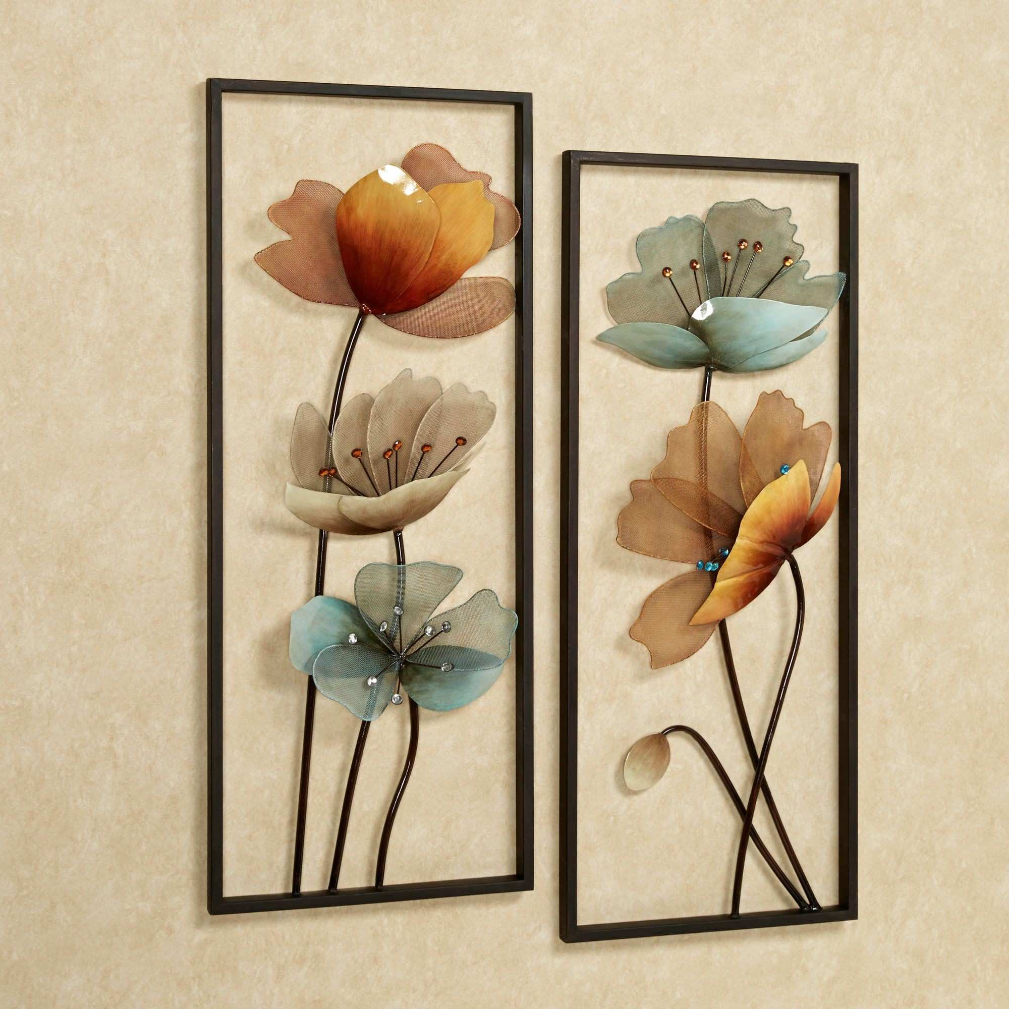 Tuscany in Bloom Floral Metal Wall Art Set Pinterest