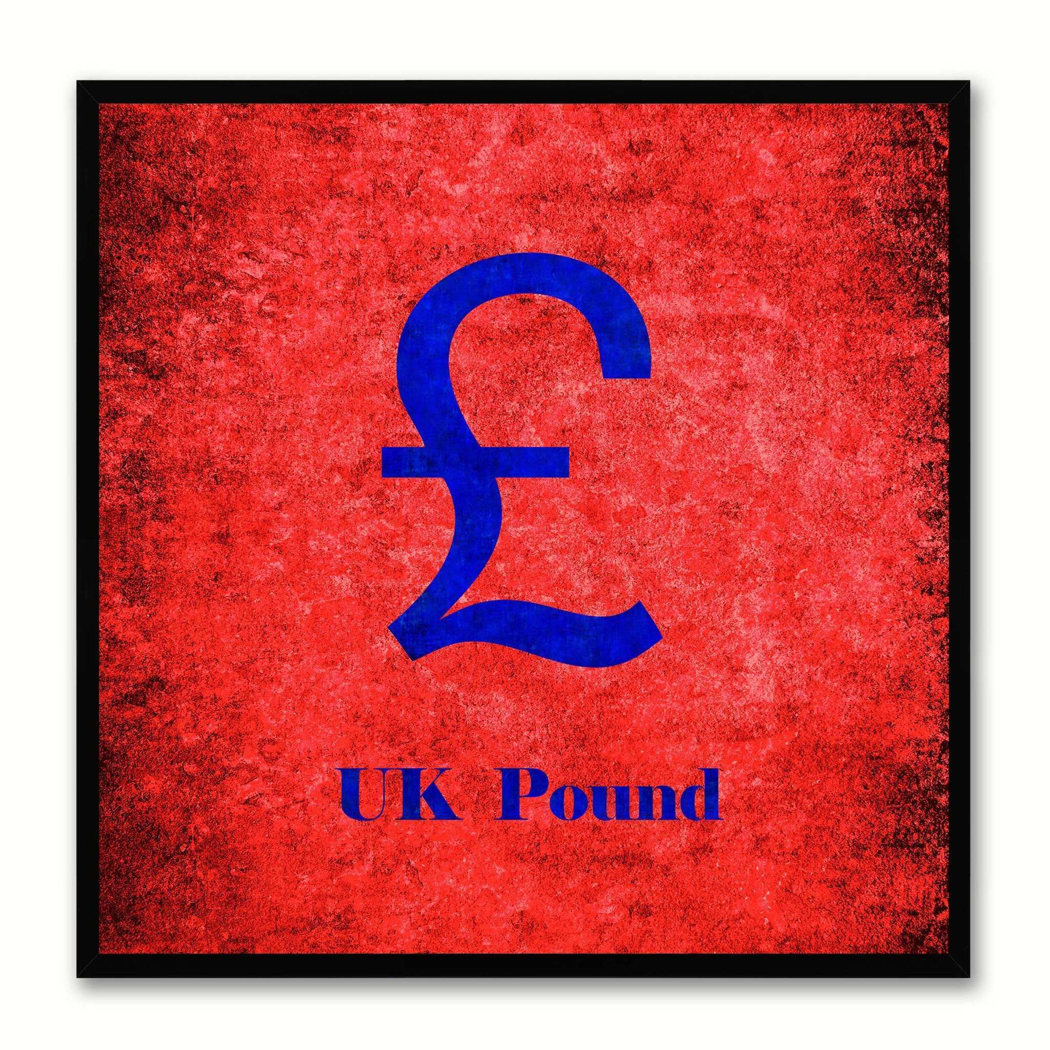 United Kingdom Money Currency Decorative Home Decor Wall Art