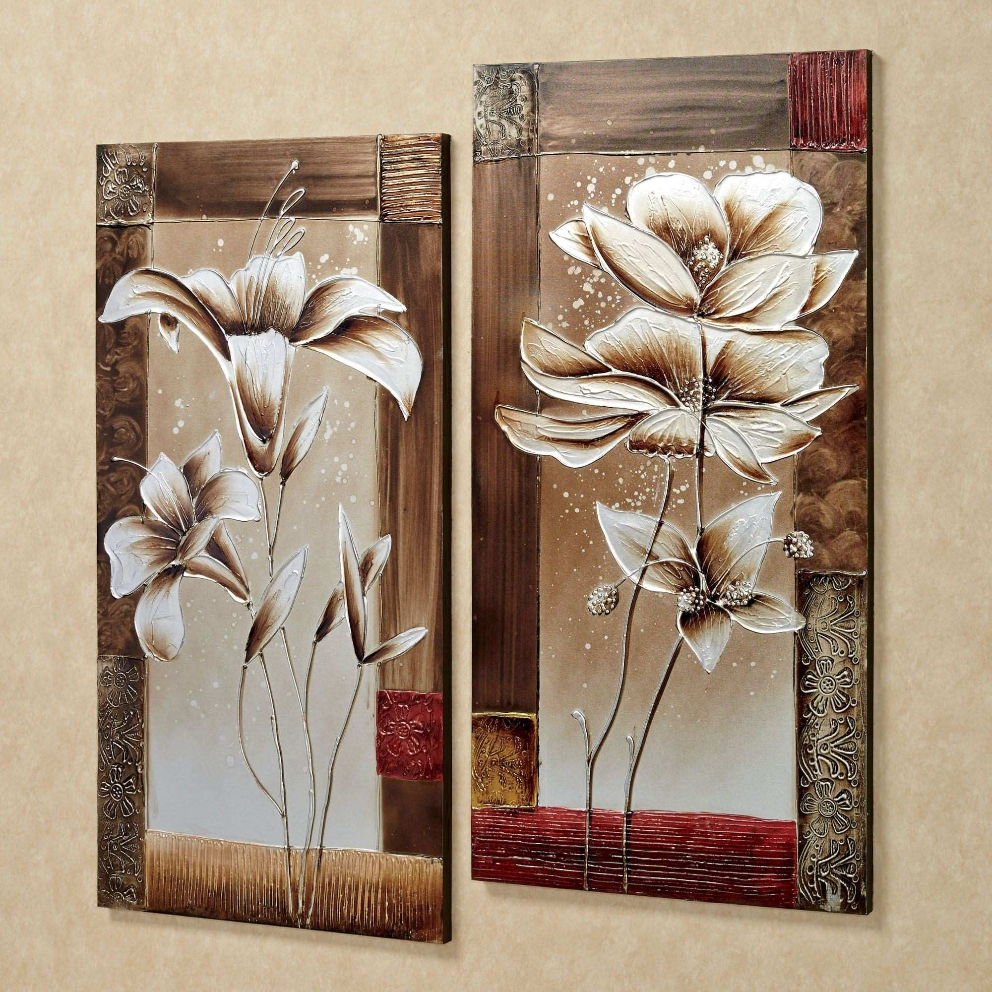Wall Art Designs Canvas Wall Art Sets Floral Tranquility Canvas