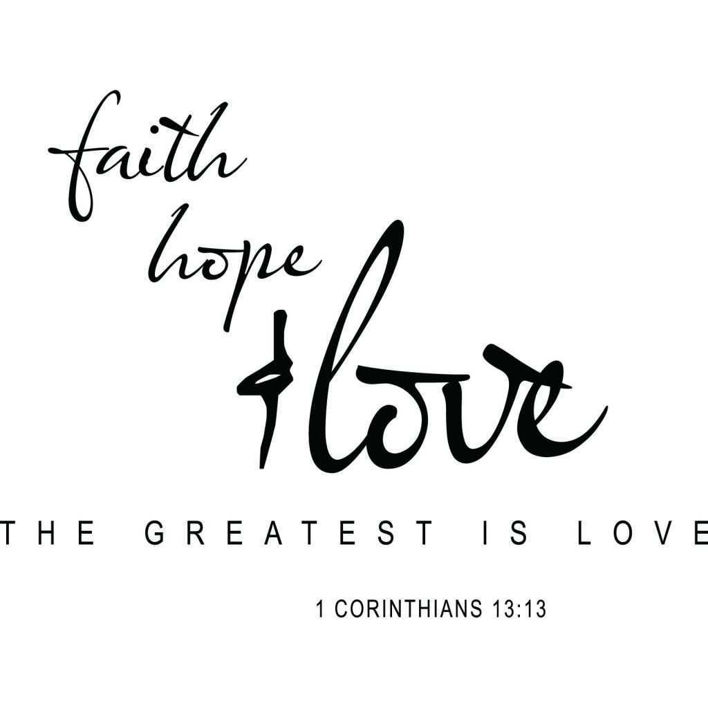 Wall Art Quotes Framed Awesome Faith Hope Love Religious Quote Wall Sticker World Of Wall Stickers