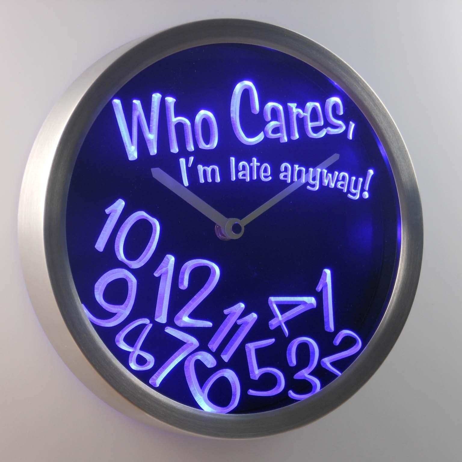 Wholesale Nc0465 Who Care I M Late Anyway Bar Beer Gift Decor Neon