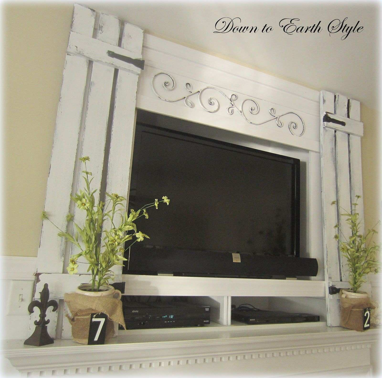 Creative fix for a TV above the fireplace Down to Earth Style