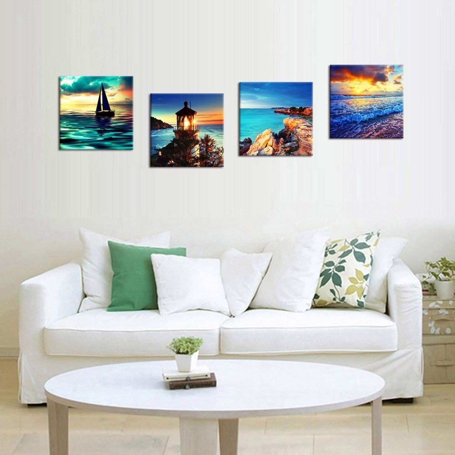 4 Pcs Framed Home Decor Canvas Print Painting Picture Modern Wall