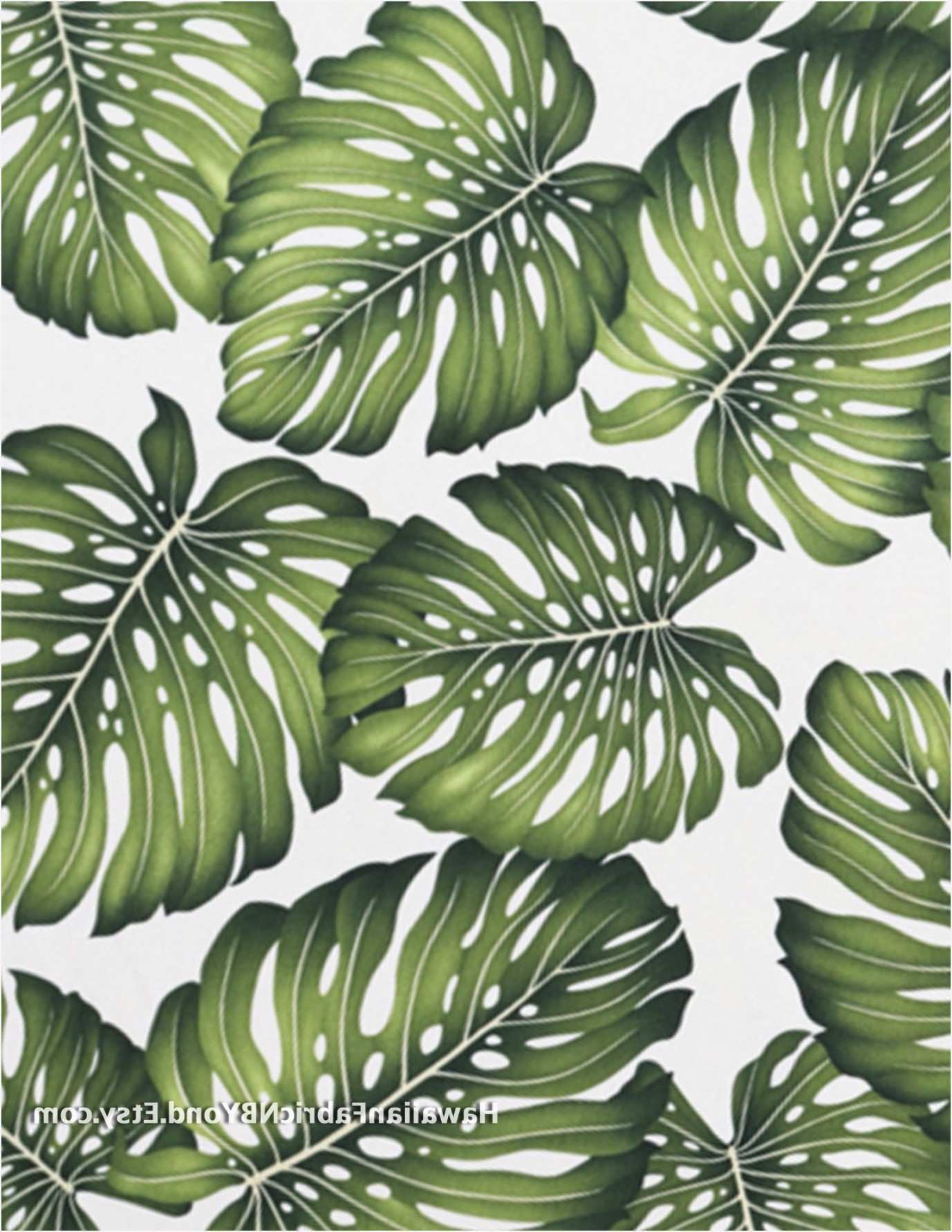 Tropical Upholstery Fabric Inspirational Tropical Leaf Fabric Print