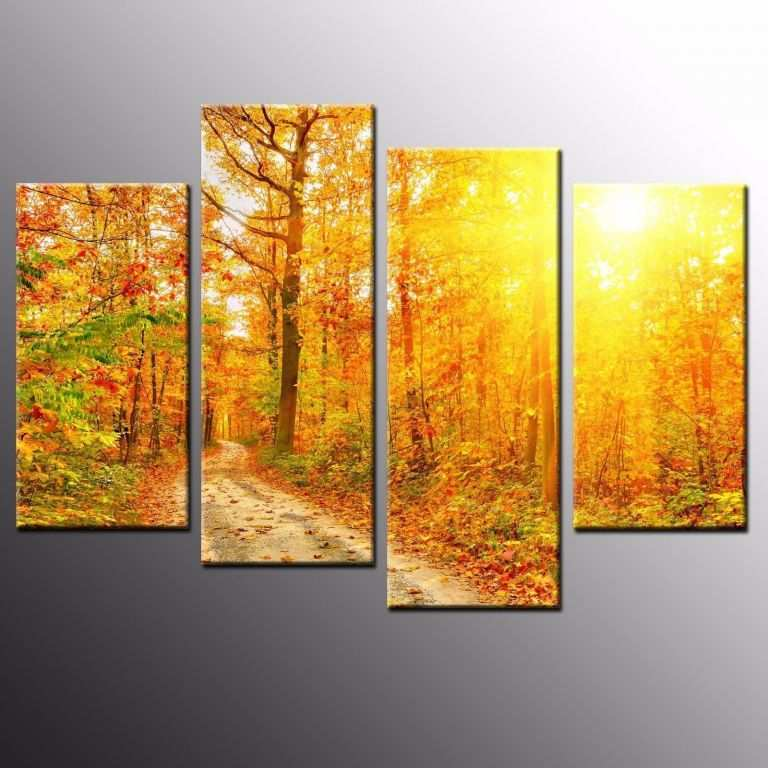 Wall Decor Paintings And Prints New Hd Canvas Prints Golden Trees