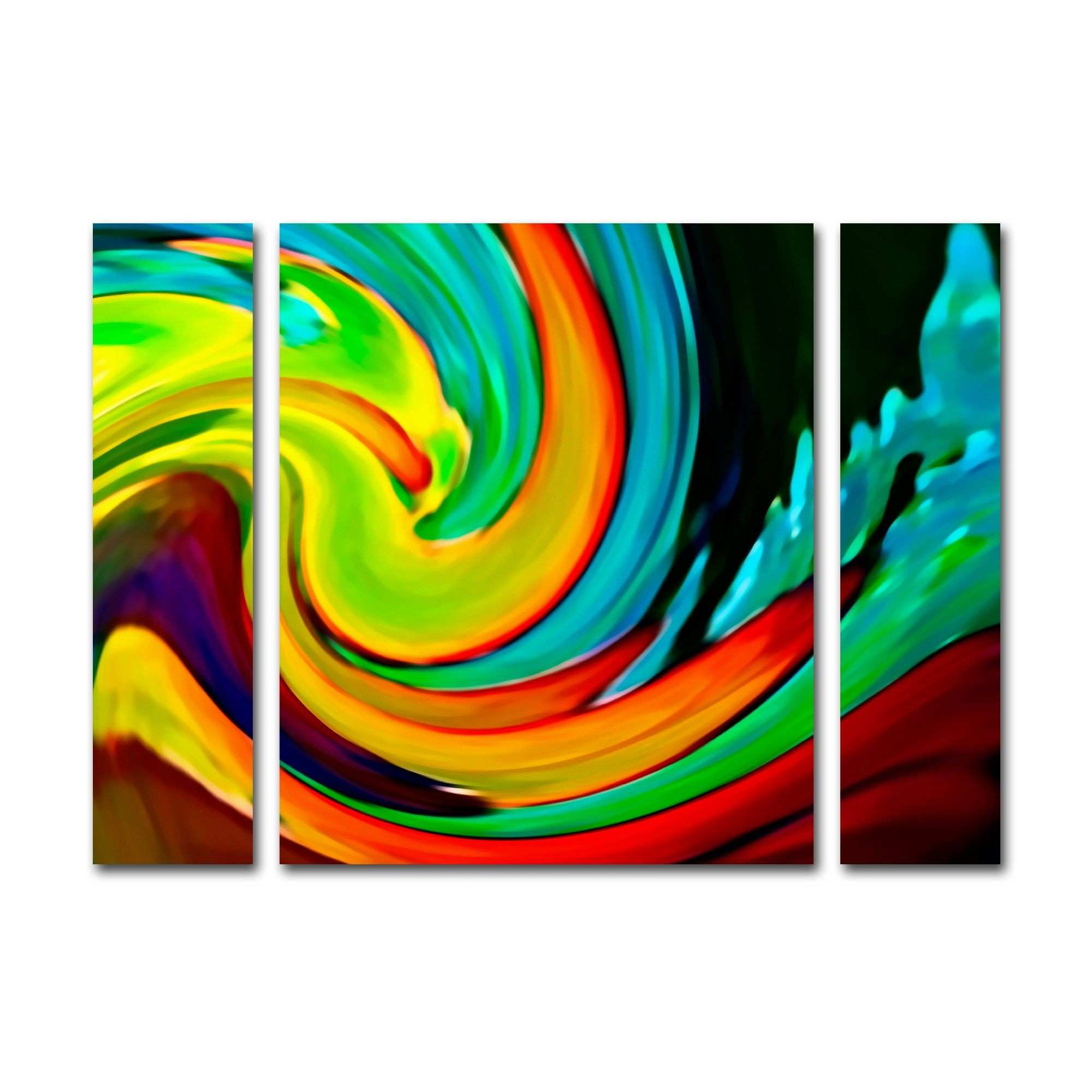 Crashing Wave by Amy Vangsgard 3 Piece Painting Print on Wrapped