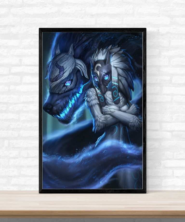 Wall Decor Posters New Kindred League Legends Lol Game Art Silk ...
