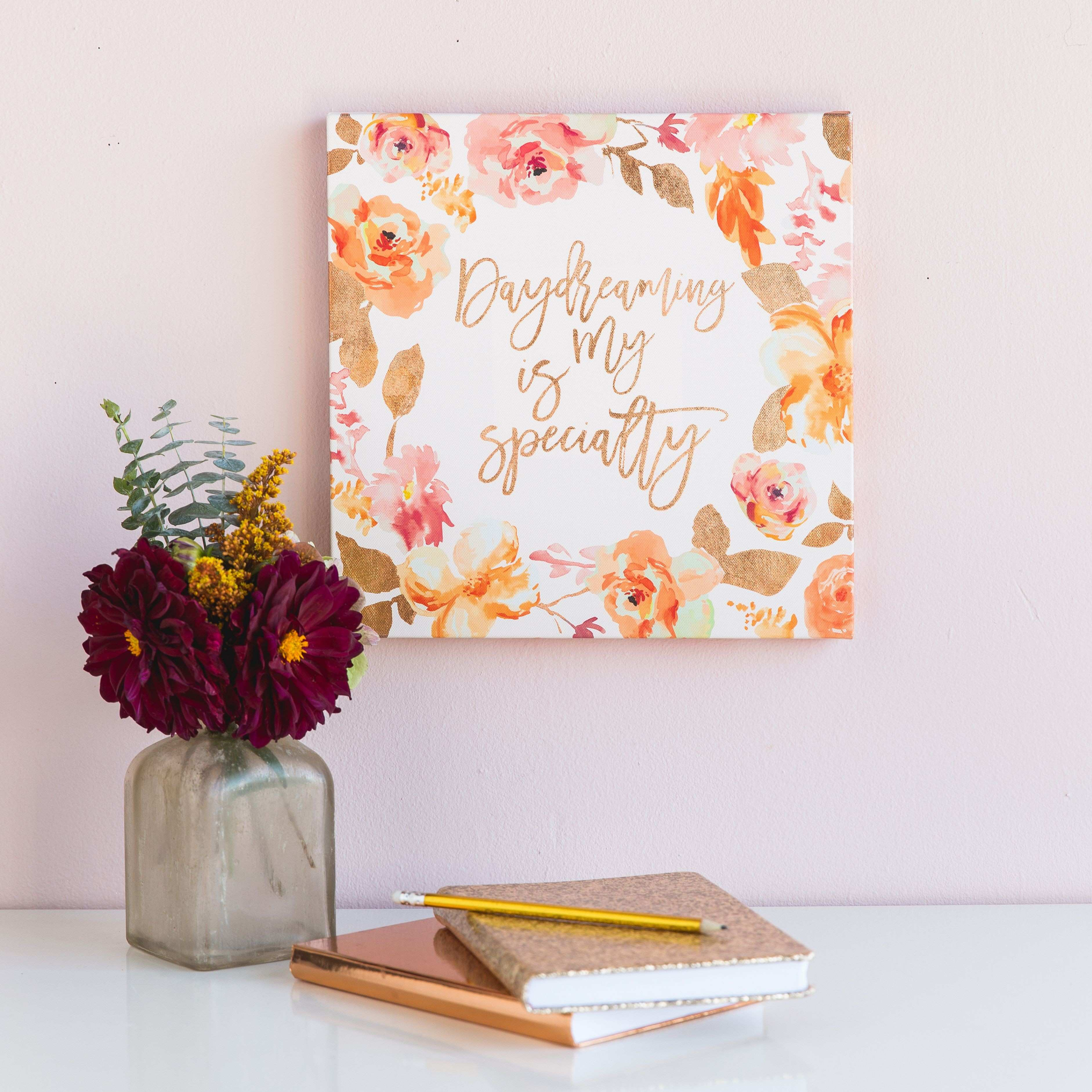 Daydreaming is My Specialty Canvas Wall Decor Features an original