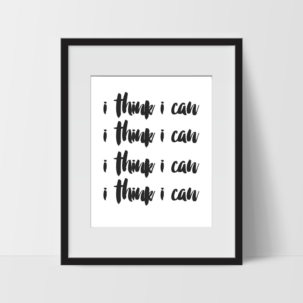 Wall Decor Sayings Luxury Motivational Wall Art In White I Think I Can Dorm Room Art for
