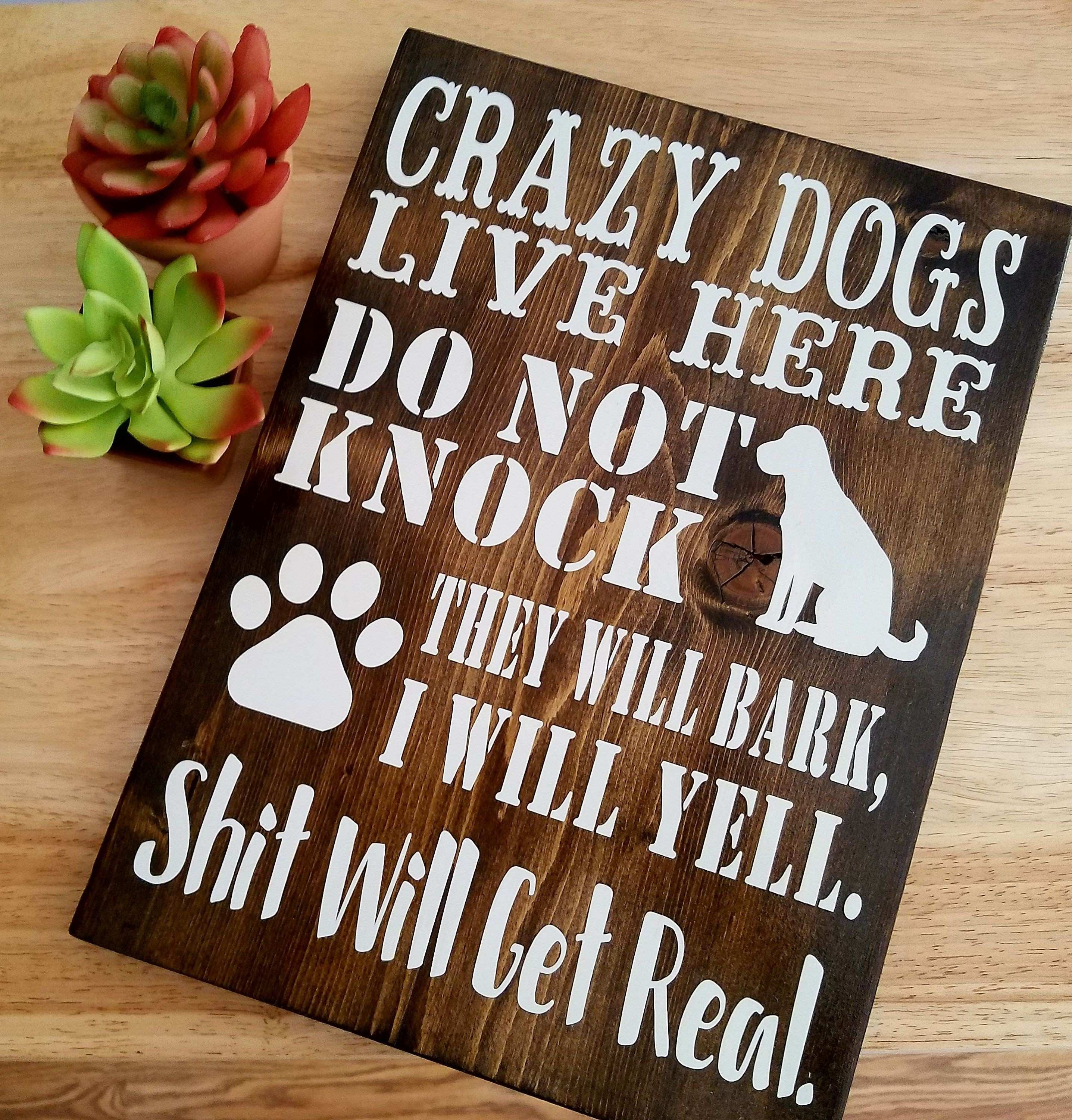 Father s Day Gift Gift For Dad Gift From Daughter Crazy Dogs