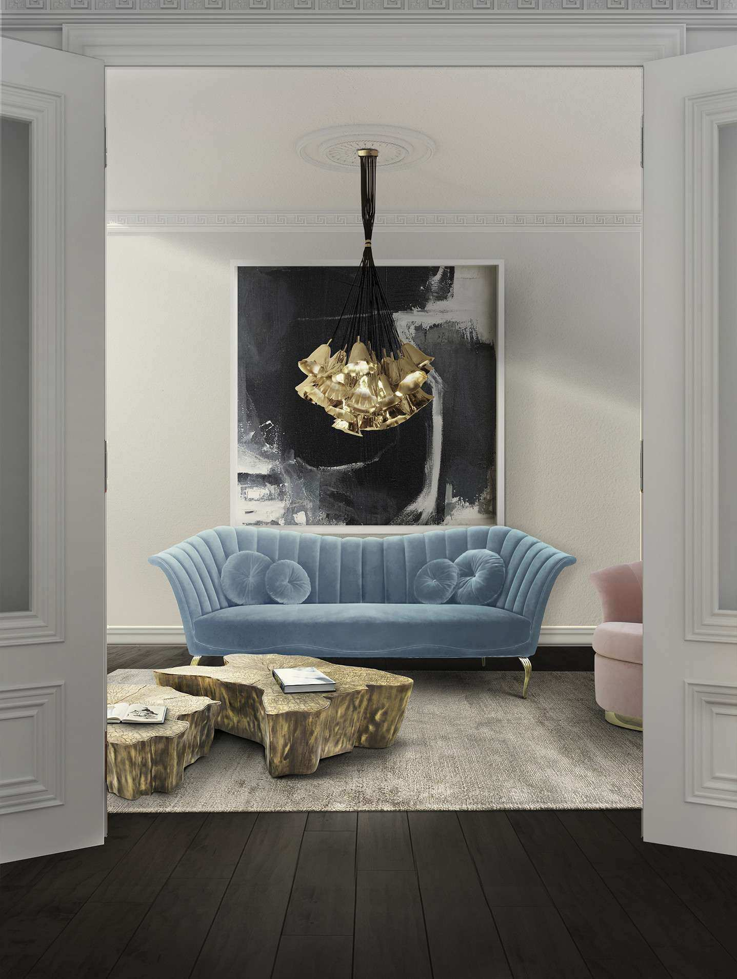 Long Wall Decoration Living Room Awesome Living Room Traditional