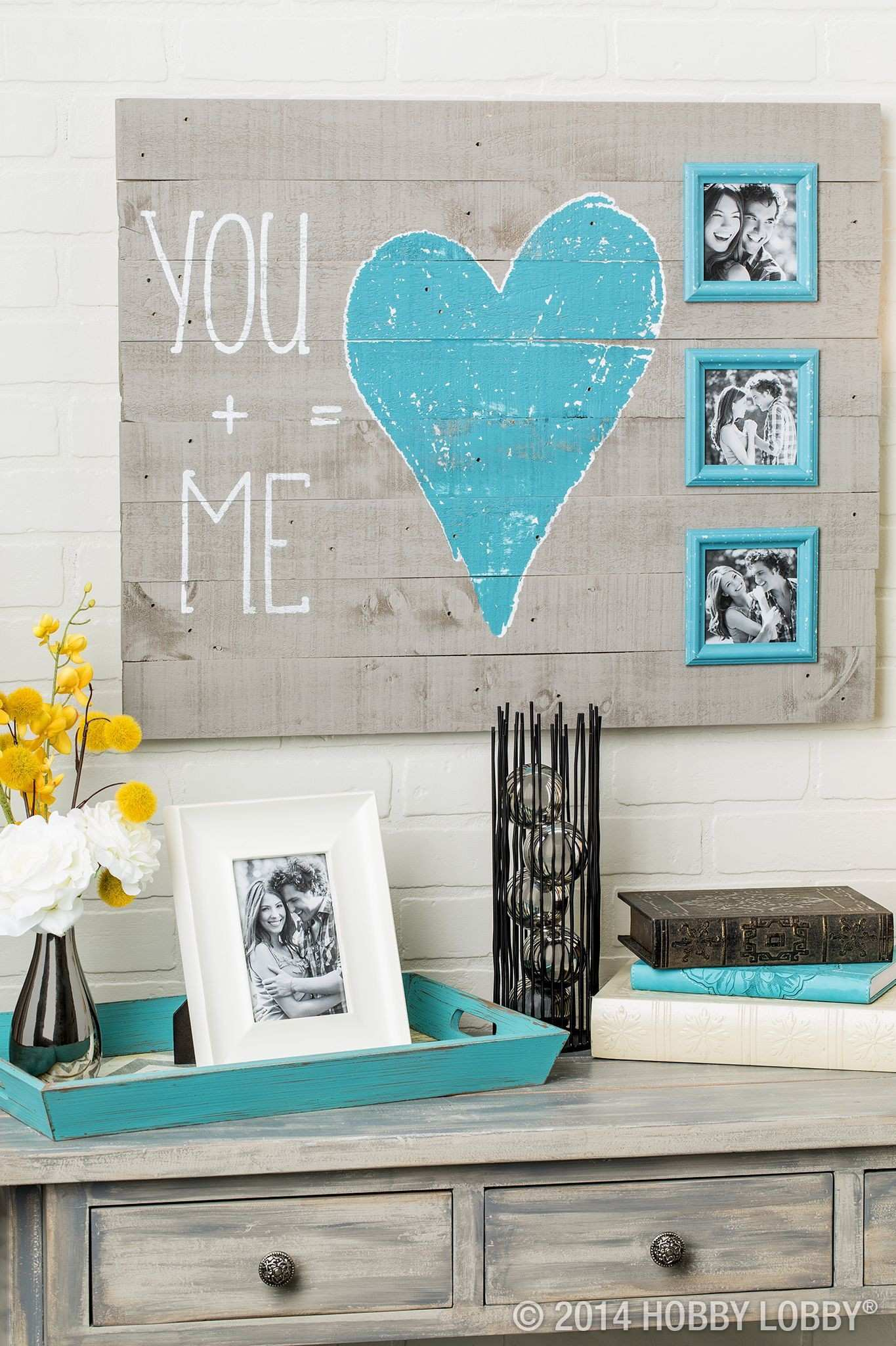 Celebrate life s best moments with a rustic chic You Me wall
