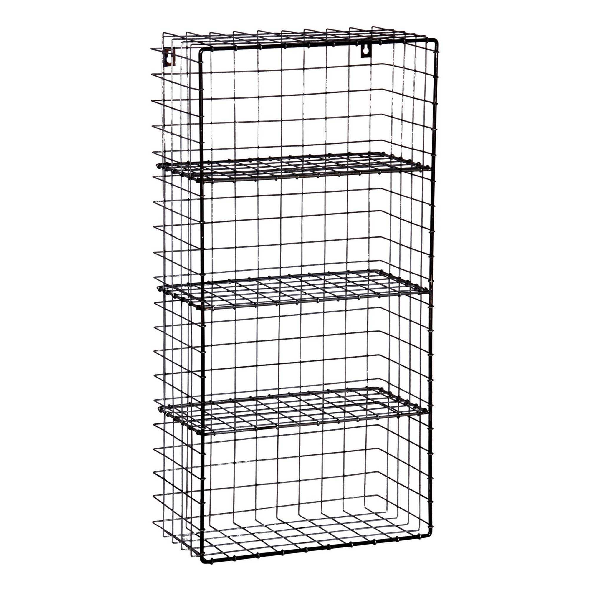 Black Wall Rack 75h Home Design Wire Storage With Shelvesi 18d