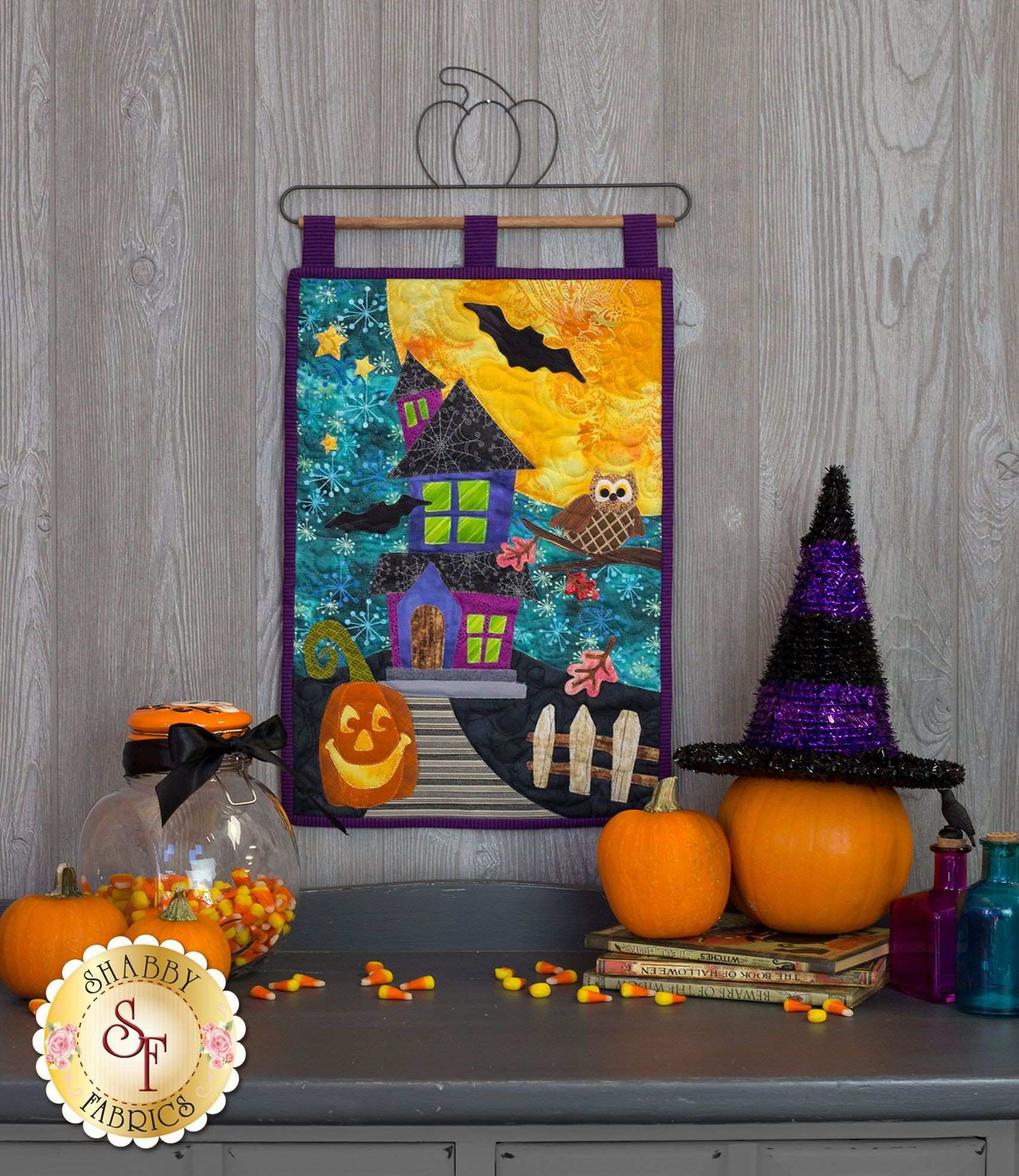 Halloween Patch Wall Hanging Kit Pre Fused Laser Cut