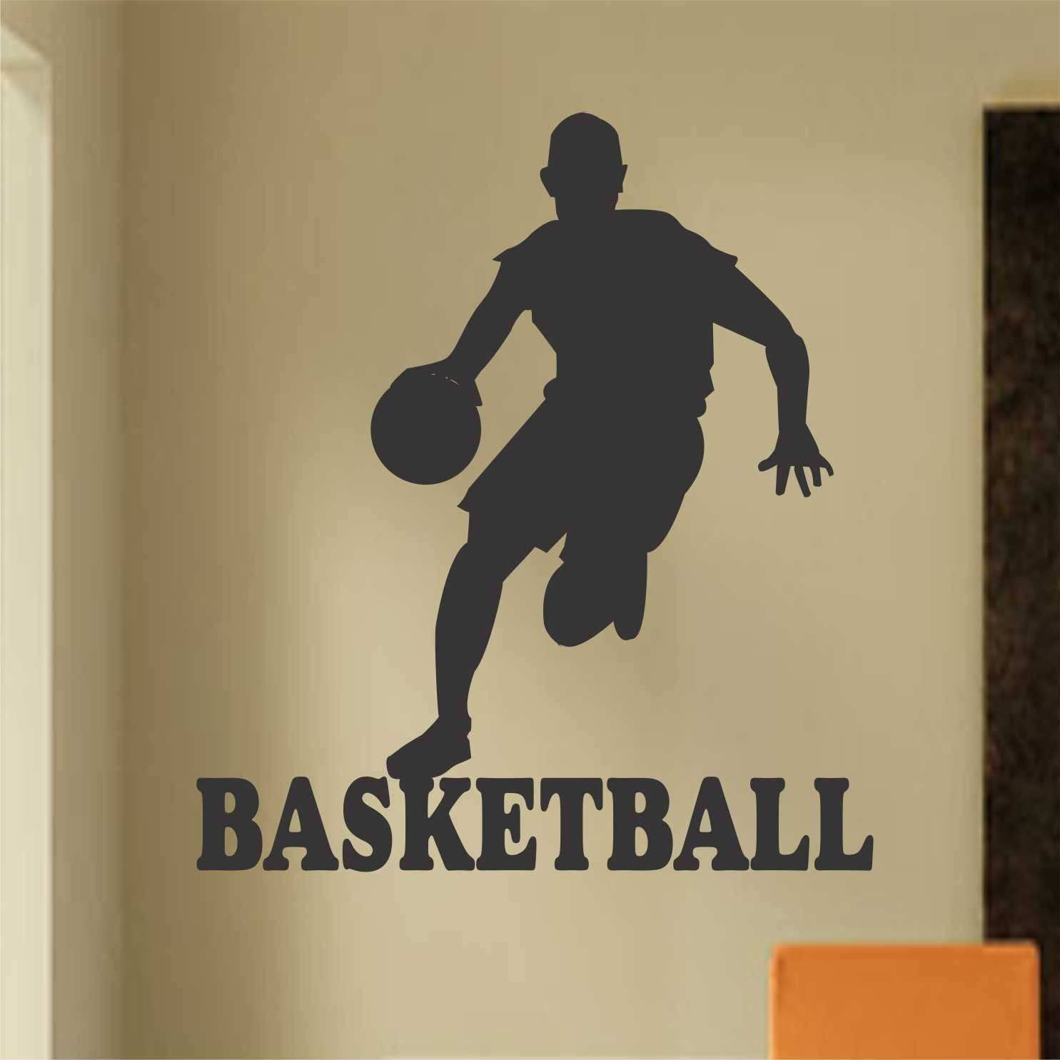 Basketball Player Silhouette Sports Decals