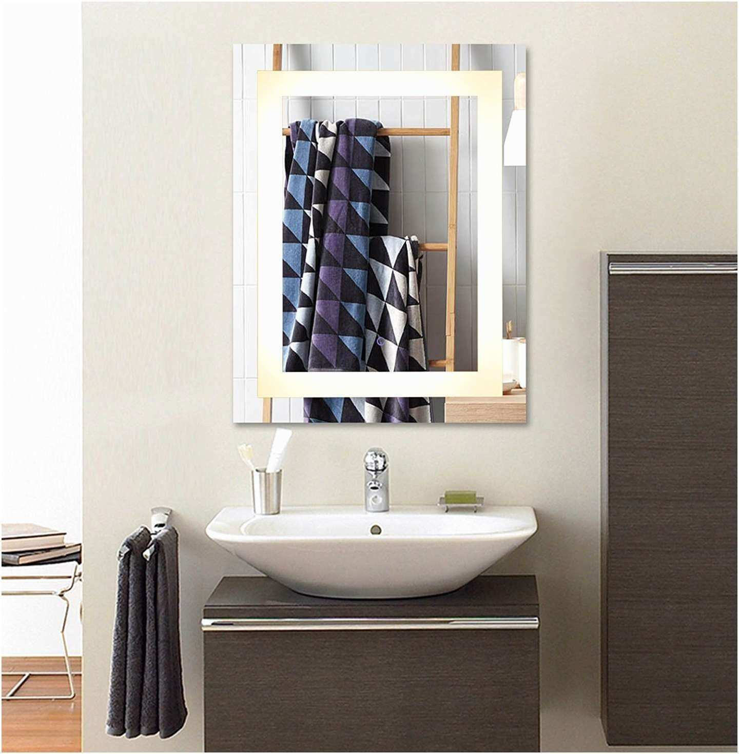 Home Design Bathroom Mirror Shelf Elegant 36 X 28 In Horizontal