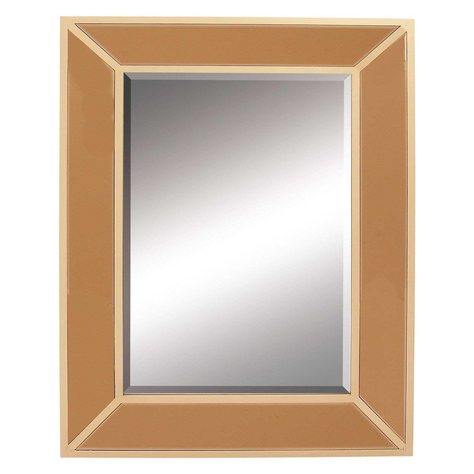 DecMode Rustic Reflections Wooden Frame Wall Mirror