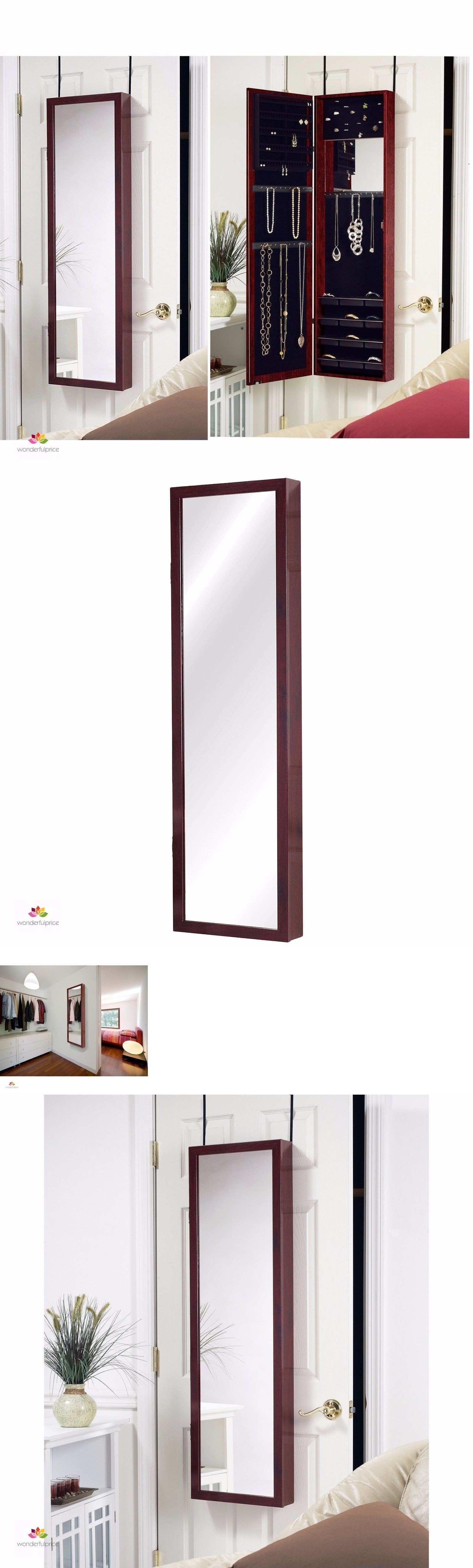 Multi Purpose Jewelry Armoire With Mirror Box Wall Mount