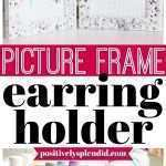 Elegant Wall Mount Picture Frame Jewelry Box