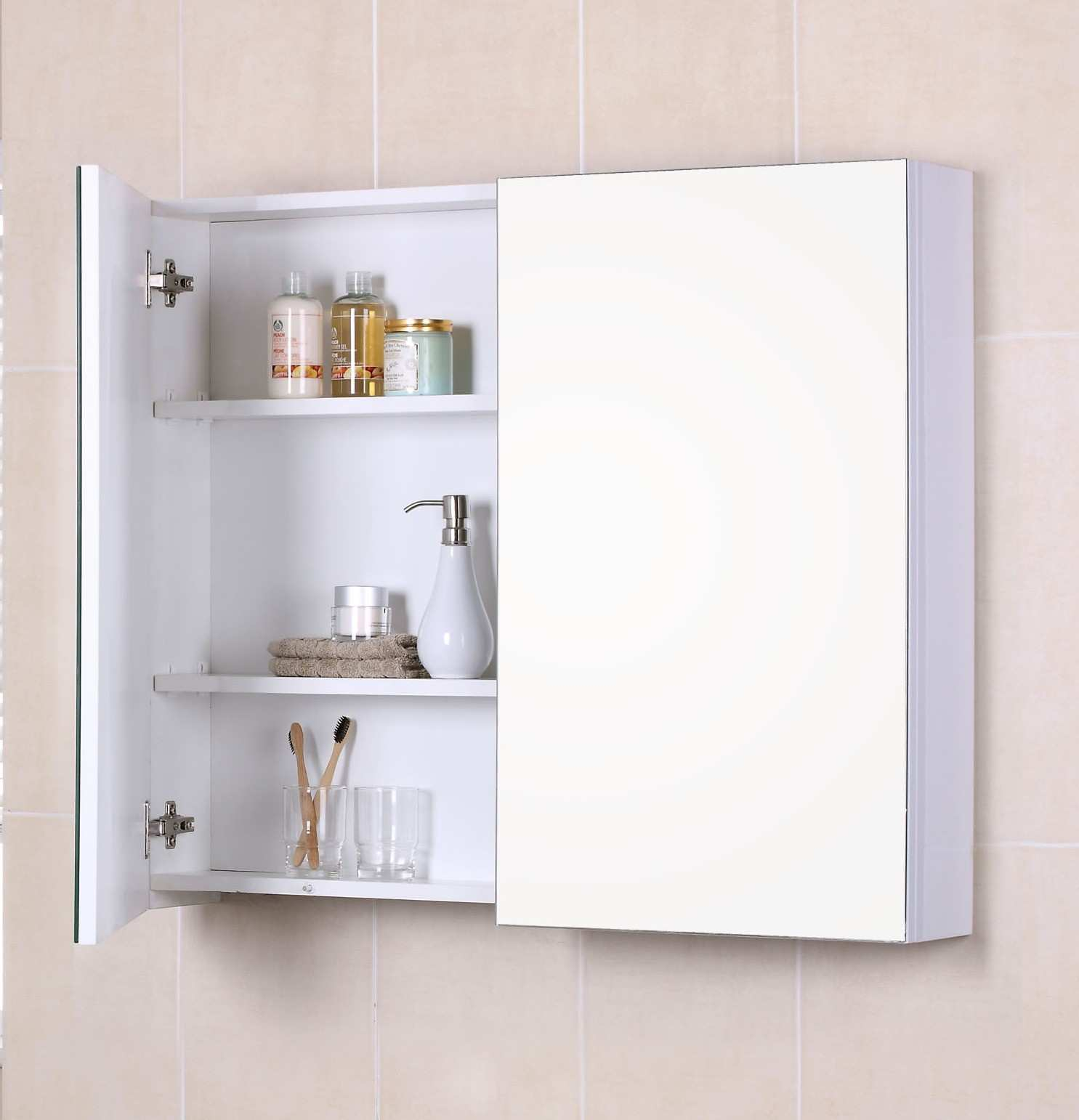 Bathroom Medicine Cabinet Mirrors Lovely 28 X 20 In Wall Mounted