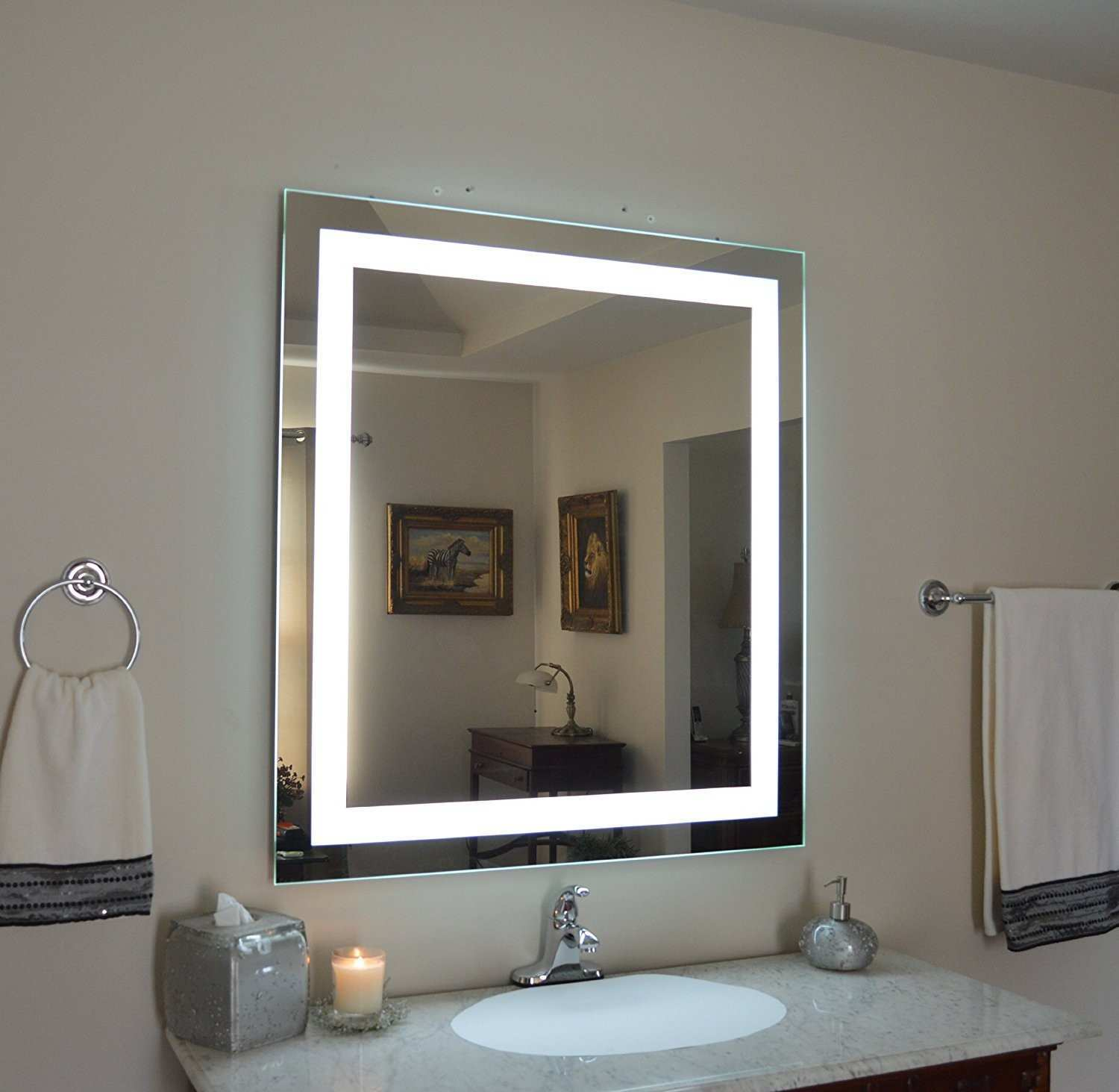 Wall Mounted Lighted Vanity Mirror pixball