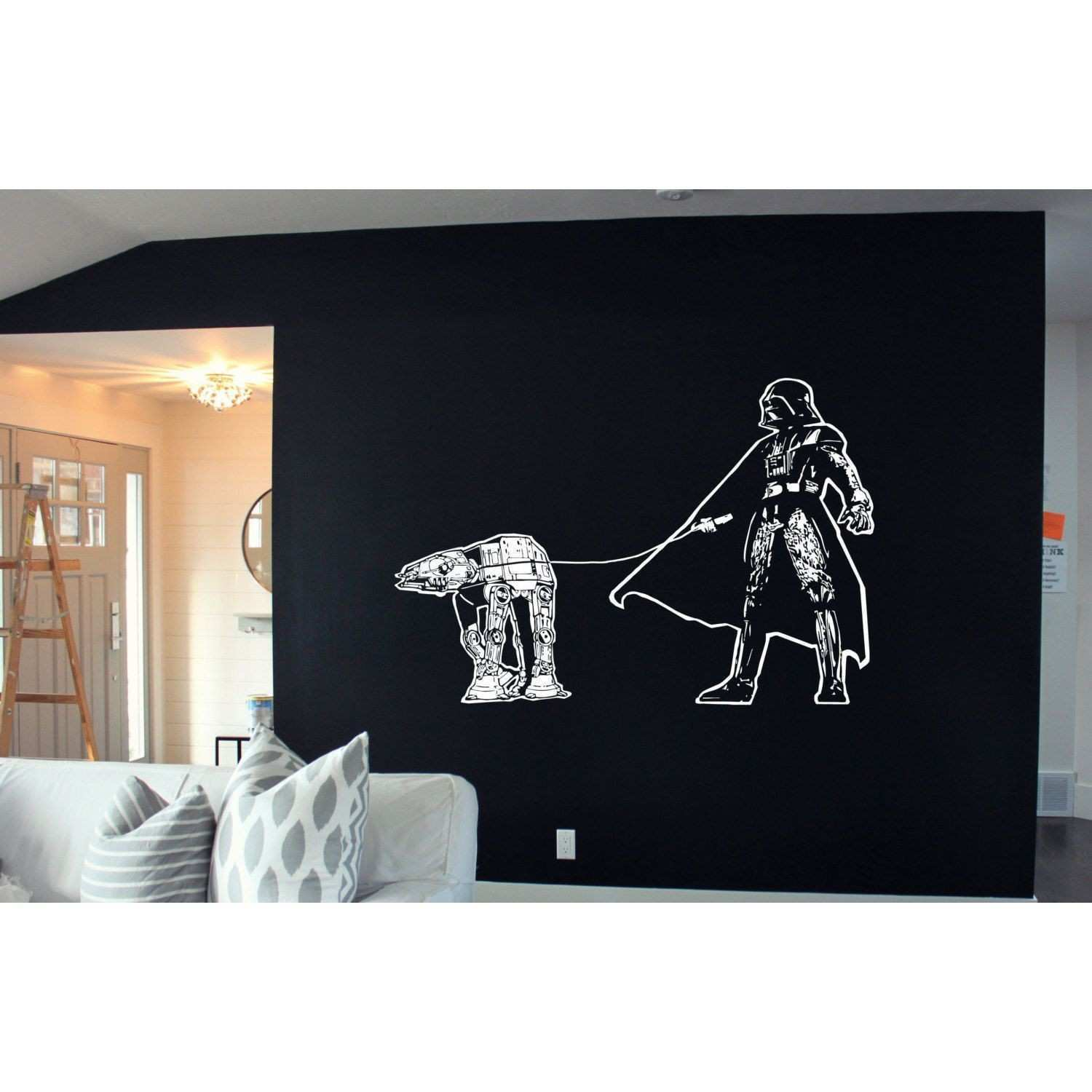 li Artist Stickalz li li Title Darth Vader Walking Atat Star