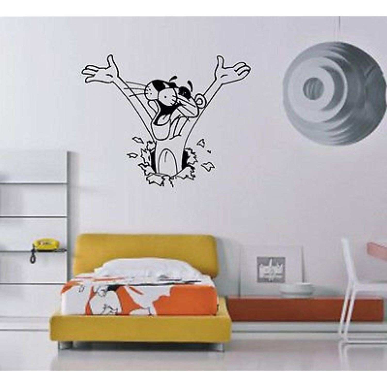 Funny Pink Panther Cartoon Kids Room Decor Wall Mural Vinyl Art