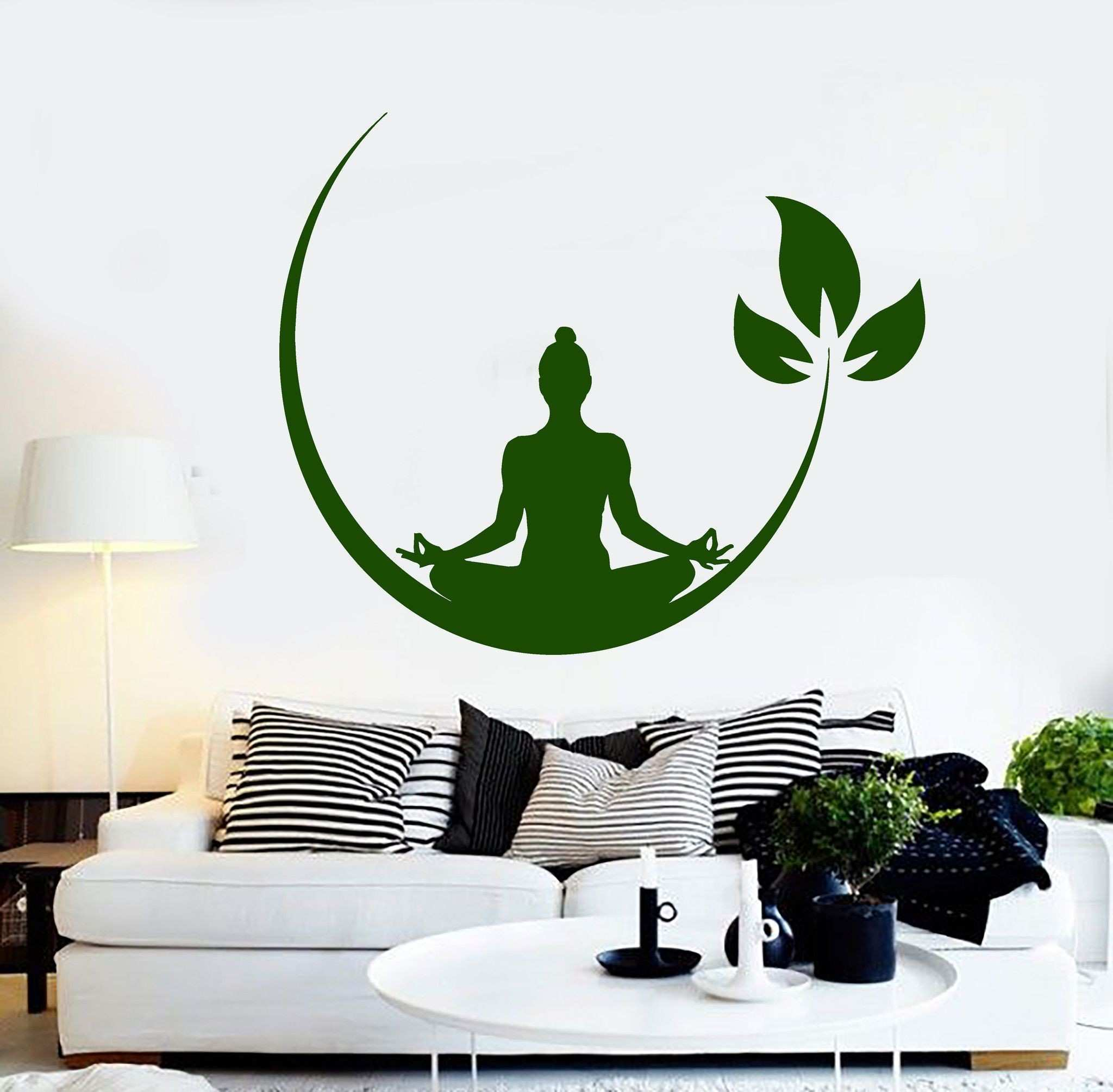 Vinyl Wall Decal Yoga Meditation Room Buddhist Zen Stickers Unique