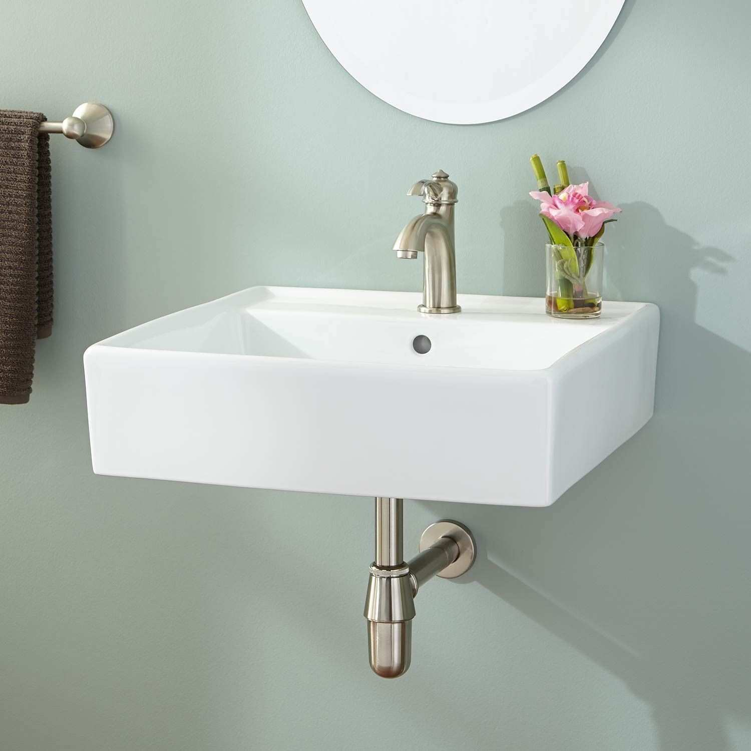 Painting Ideas For Bathroom Walls Olney Porcelain Wall Mount Sink