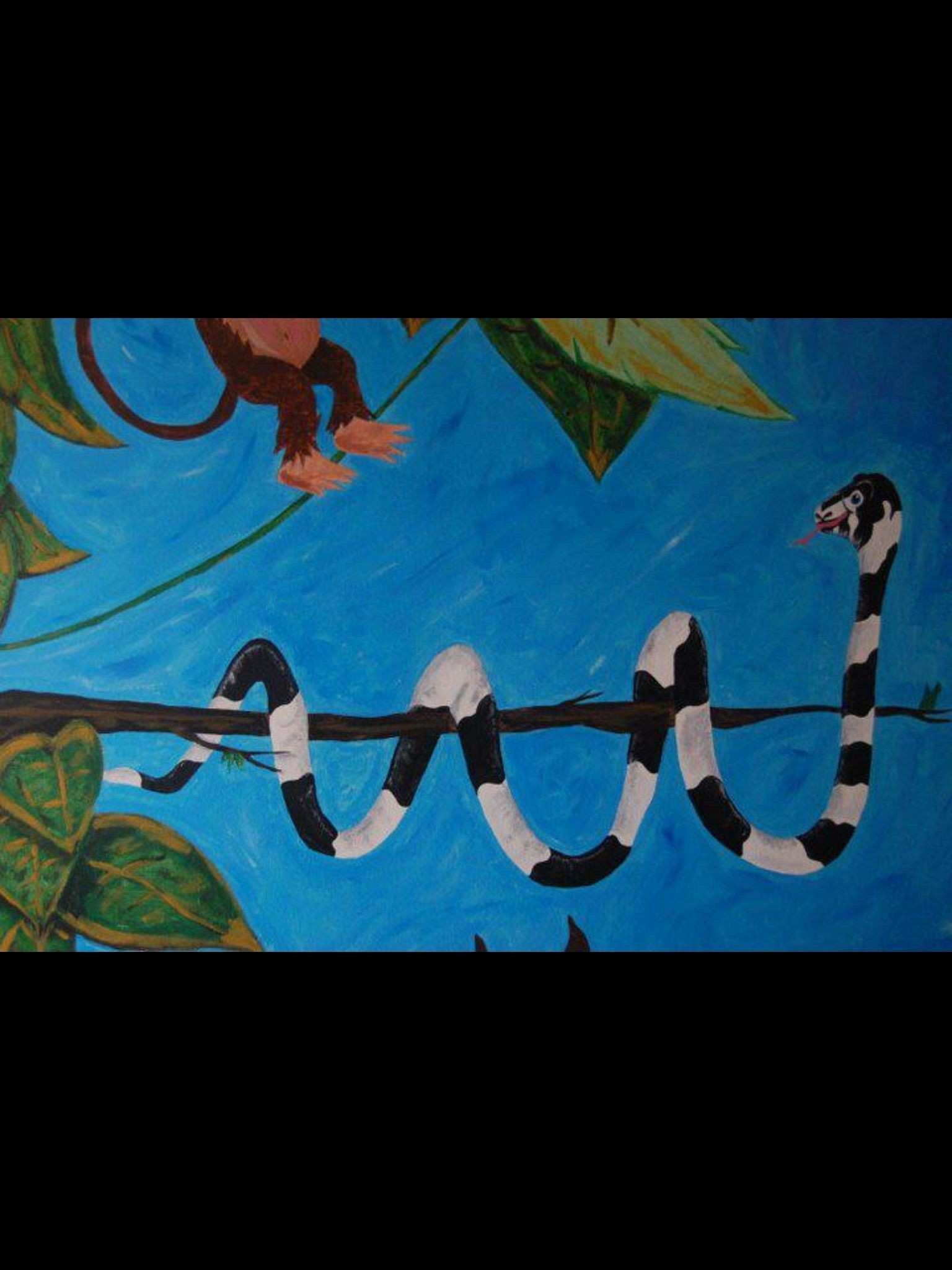 Jungle themed mural by caras creations for a child s nursery Look
