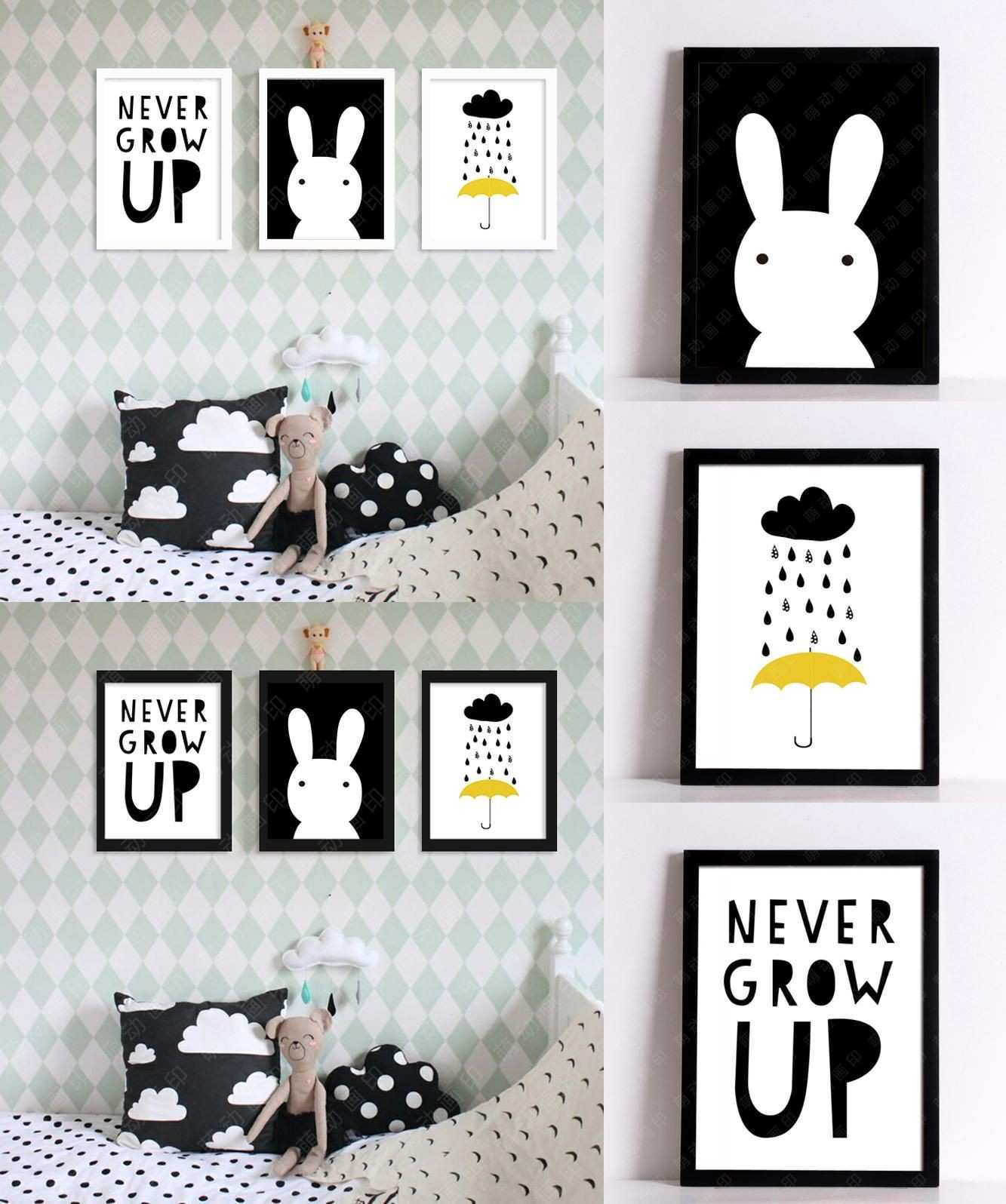 Visit to Buy] Cuadros Decoracion Nordic Decoration Never Grow Up