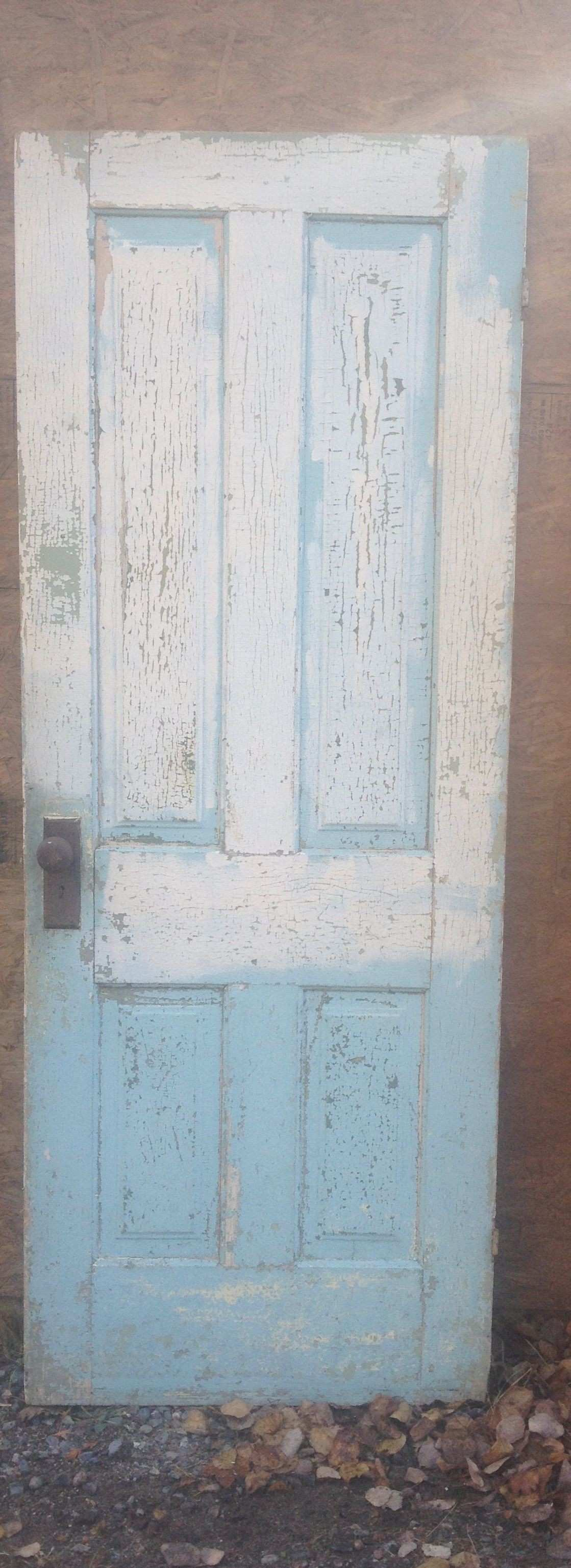 Solid wood multi painted peeling crackling door would make a Great