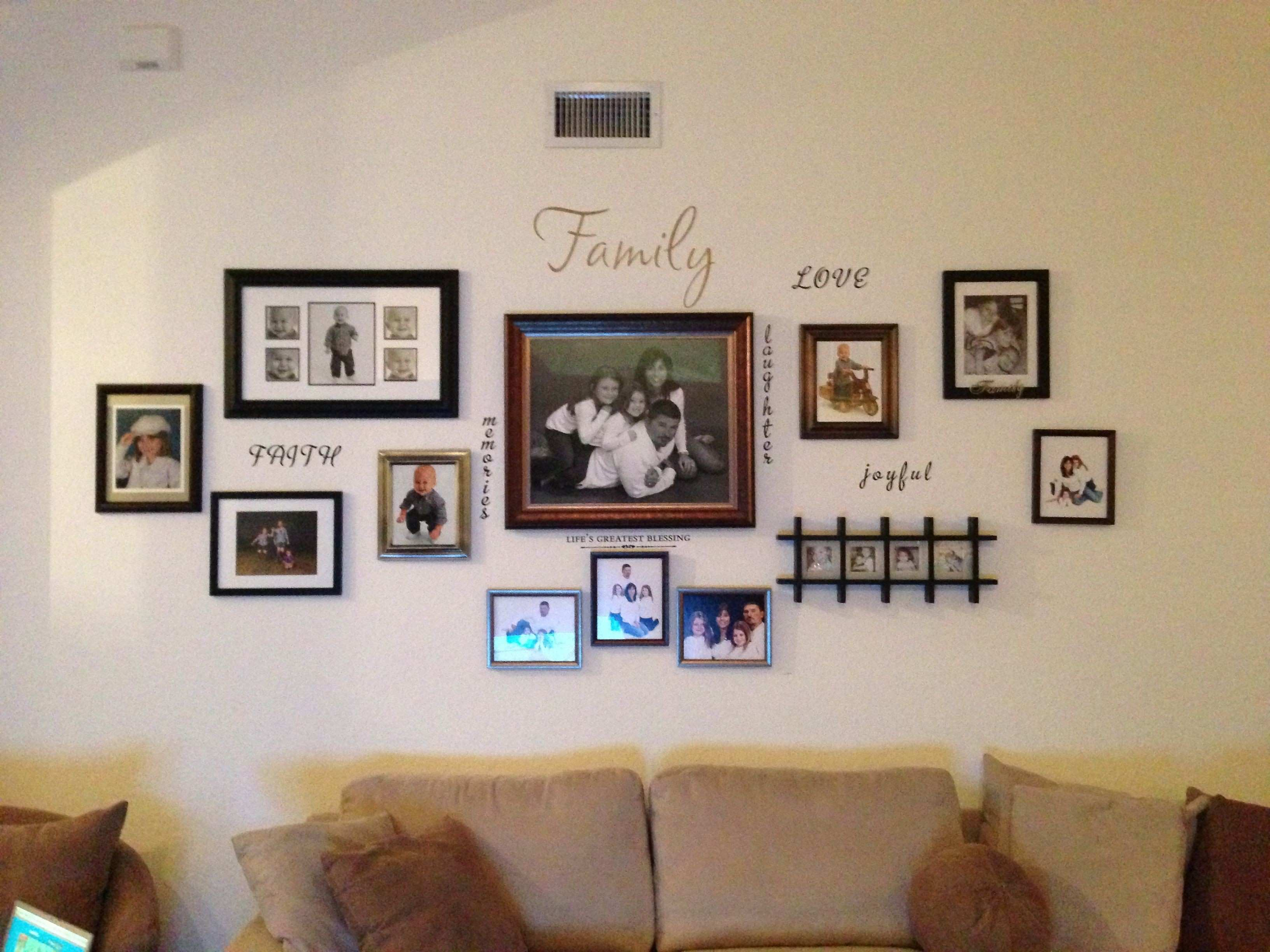 Wall Photo Collage Beautiful Family Photo Wall Collage