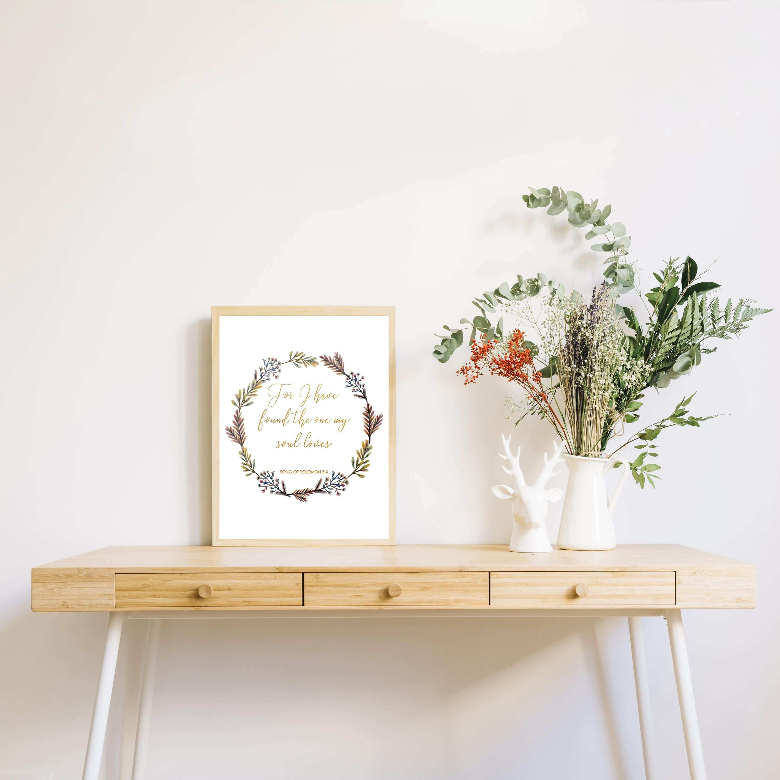 Bible Verse Print Scripture Floral Wall Art For I Have Found The e