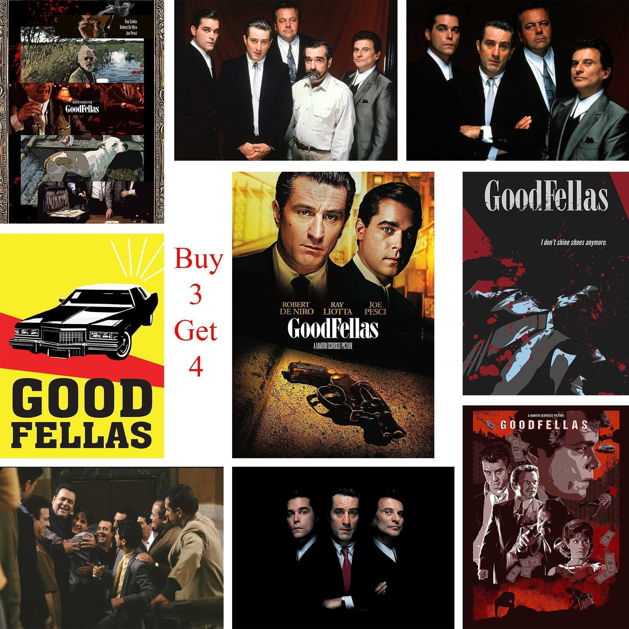 Goodfellas Posters Movie Wall Stickers White Coated Paper Prints