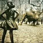 Wall Street Bull Pictures Beautiful Fearless Girl Statue Wall Street Charging Bull Empowered Strong Of Wall Street Bull Pictures