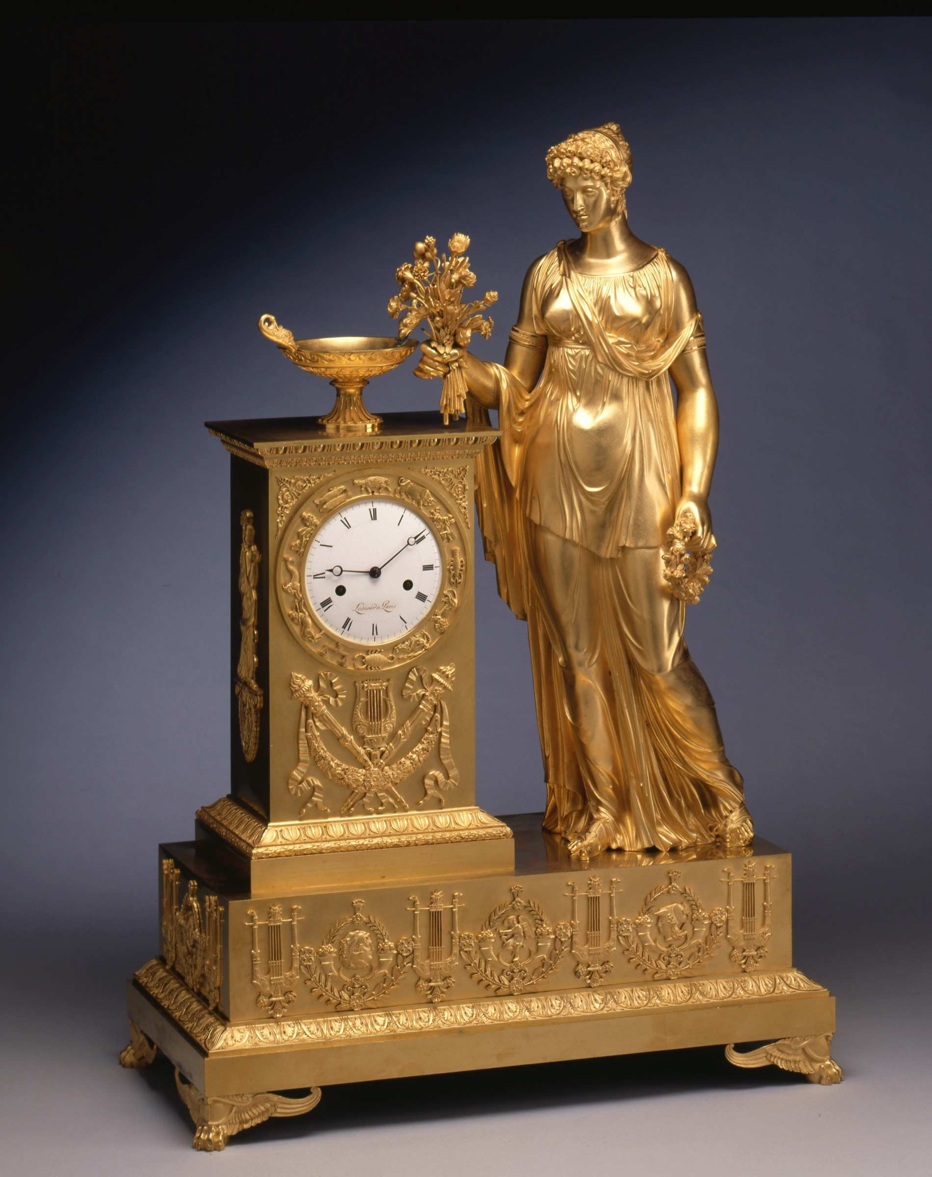 Lesieur An Empire mantel clock by Lesieur Paris date circa 1815