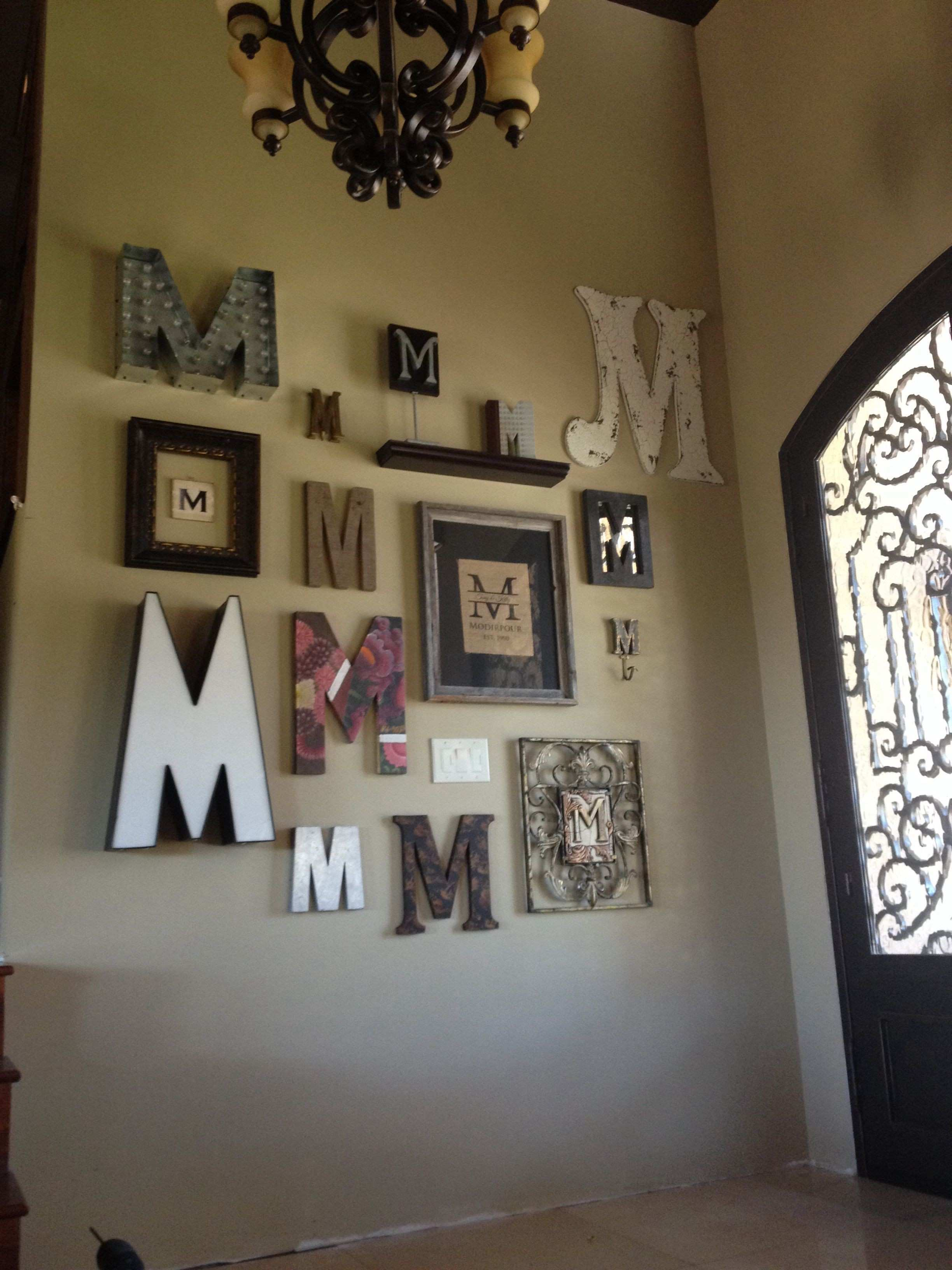 Monogram Wall For the Home Pinterest