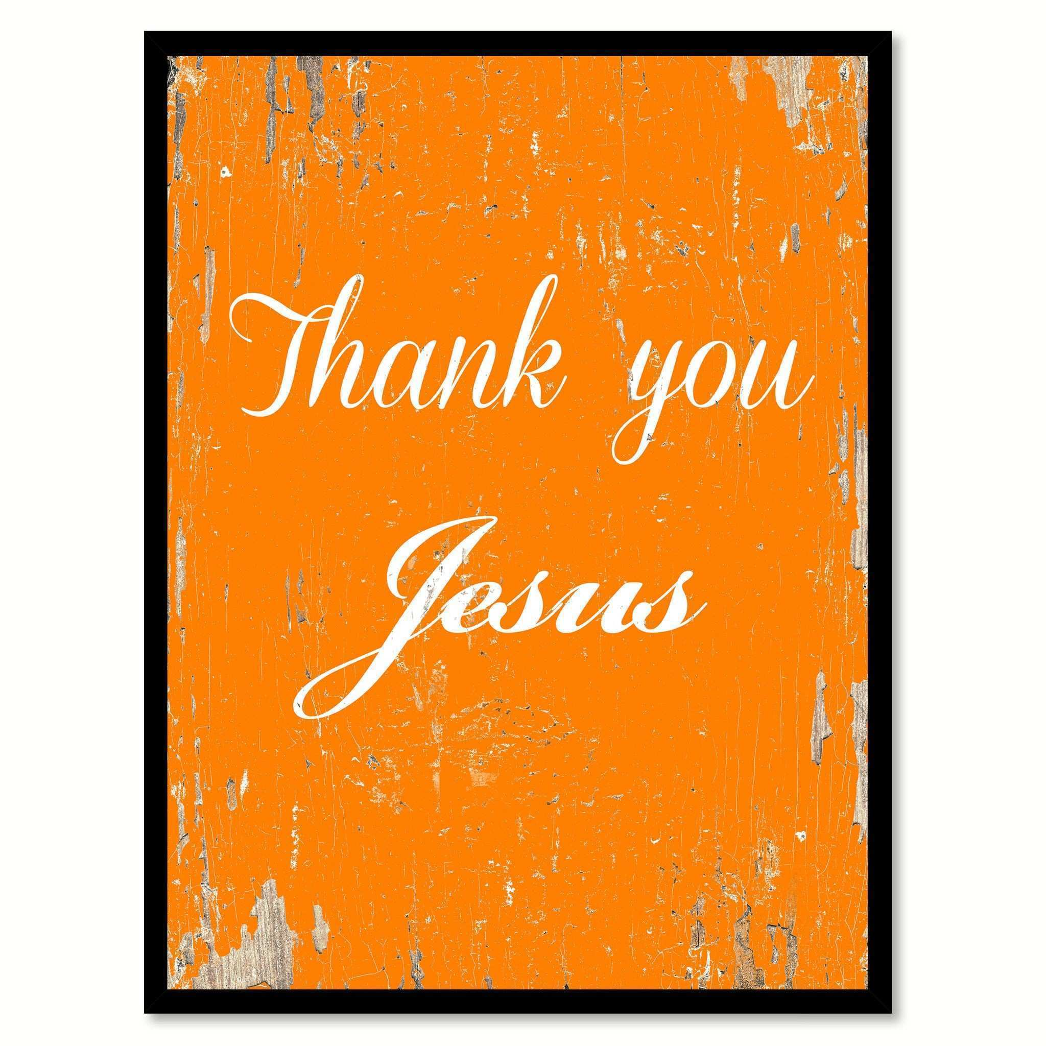 Decorative Wall Plaques Quotes Lovely Thank You Jesus Quote Saying