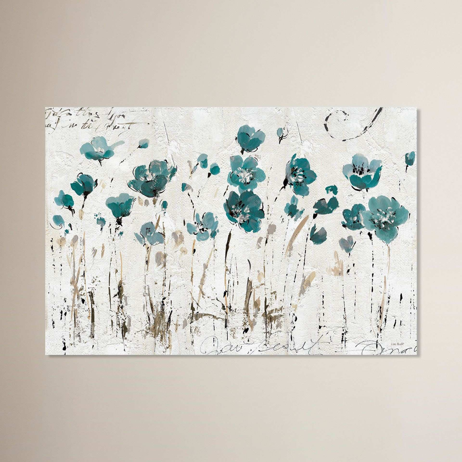 Red Barrel Studio Abstract Balance Blue Painting Print on Wrapped