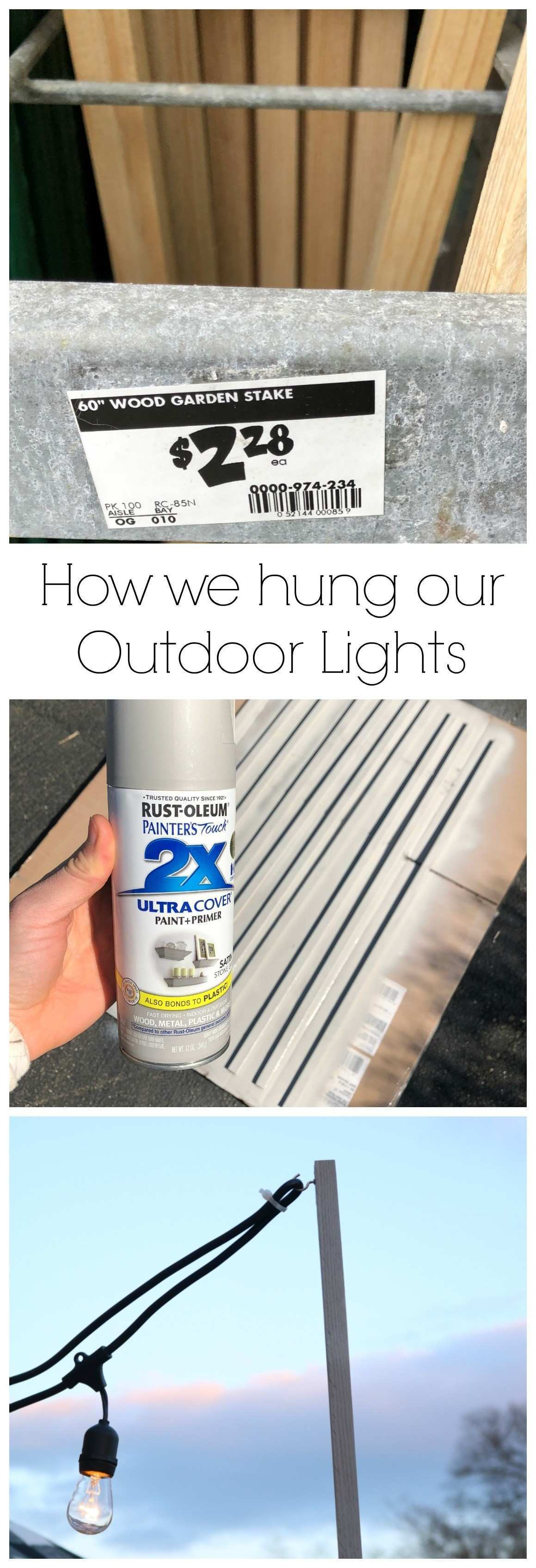 How we hung our Deck String Lights Privacy Screen and Artwork