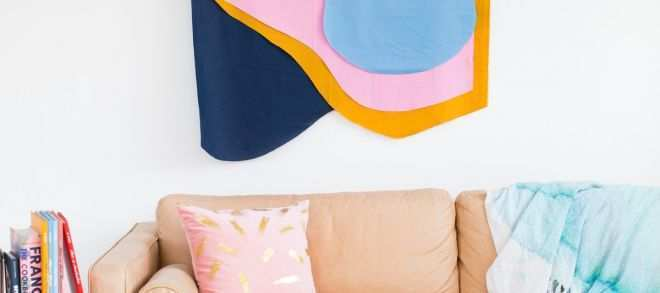 Where to Hang Pictures On Wall Unique Colorful Diy Fabric Wall Hanging