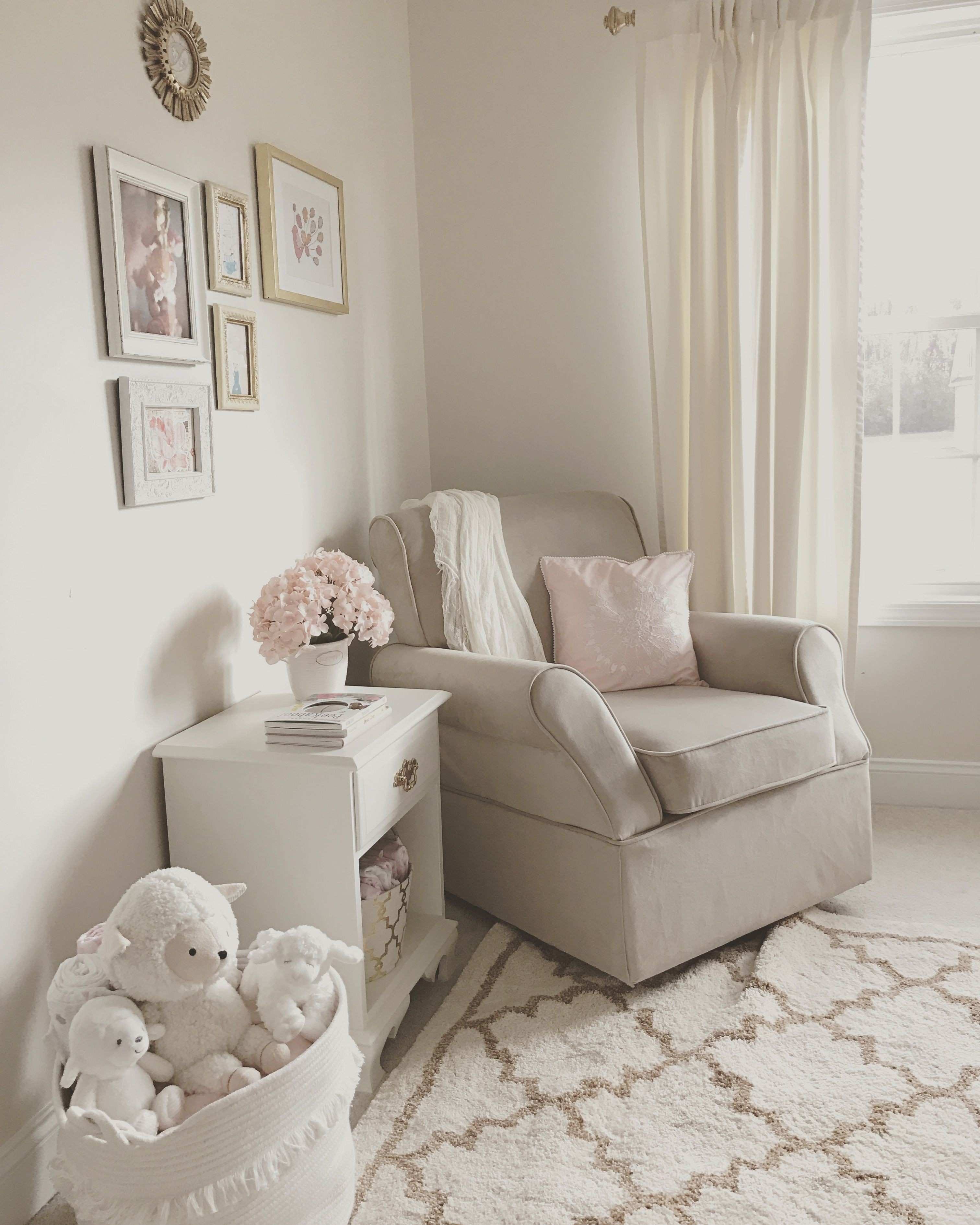 White and Gold Canvas Art Best Of Neutral White Gold and Blush Pink Nursery Beige Rocker Glider