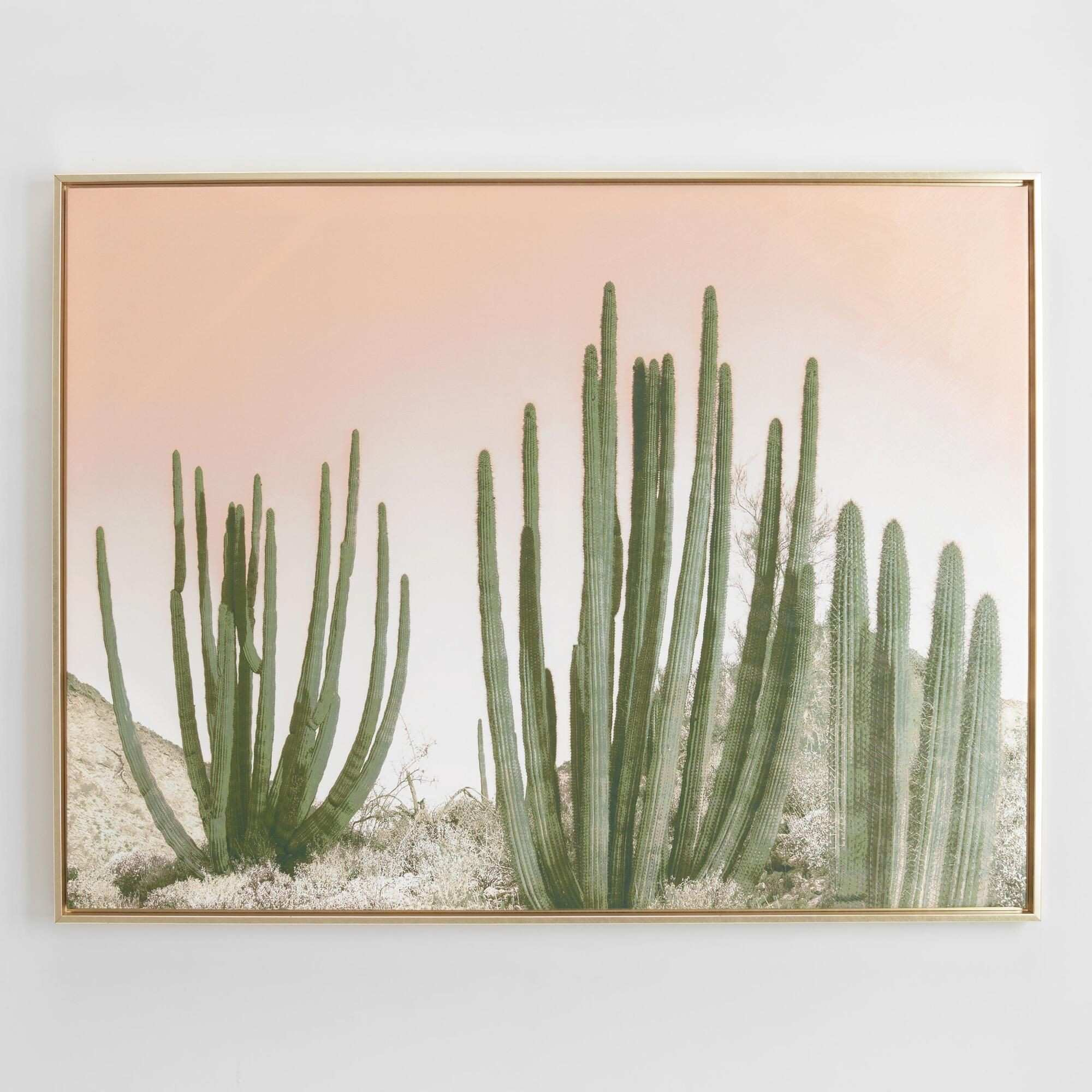 Inspired by midcentury photos of Palm Springs this gold framed