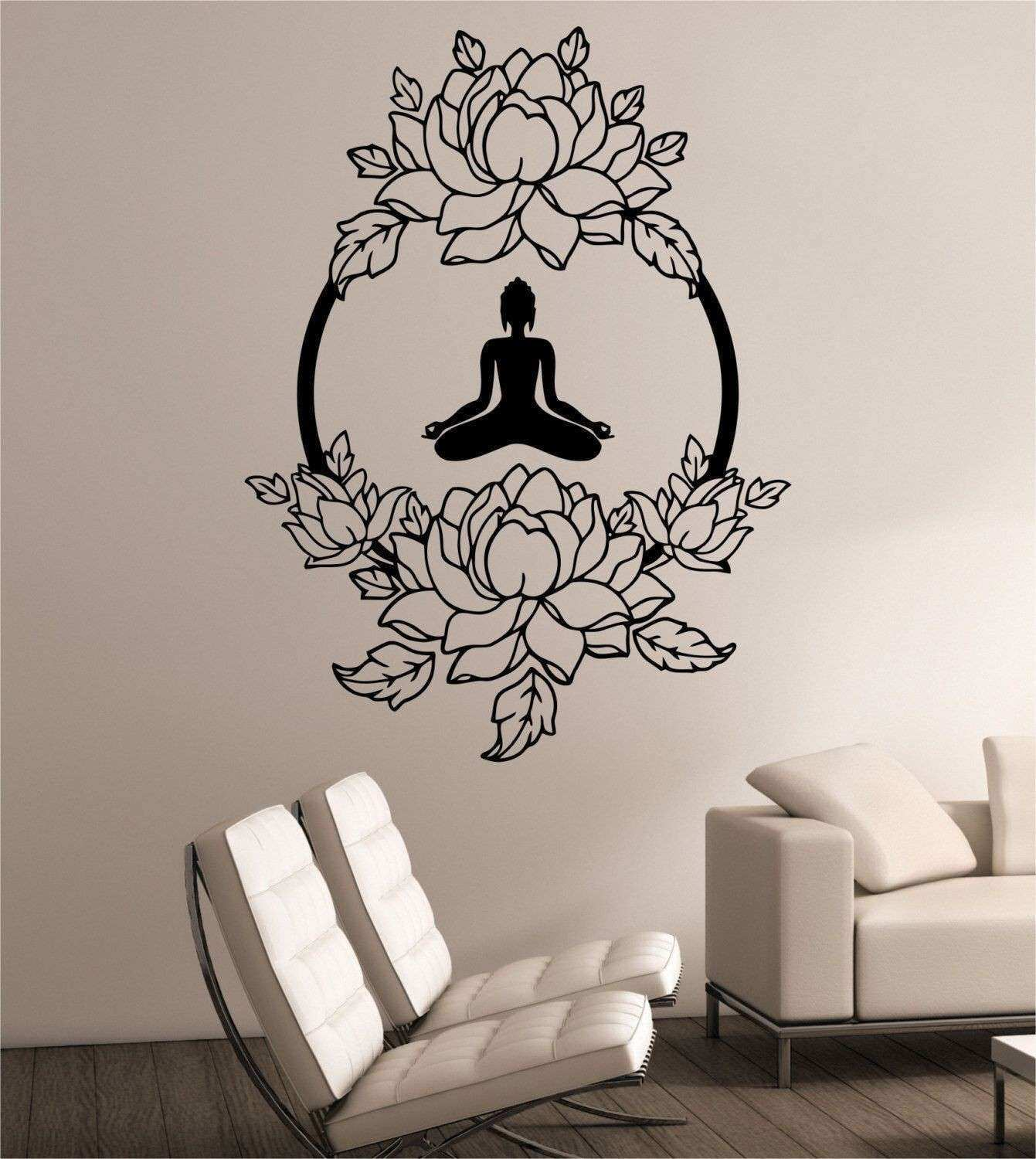 Fresh Wall Stickers White Flowers